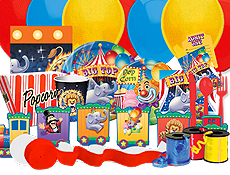 Circus Carnival Clowns Party Supplies