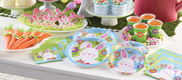 Easter Party Supplies, Tableware and Decorations