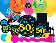 Eighties party supplies and printable games for theme parties for 1980s party decoration ideas