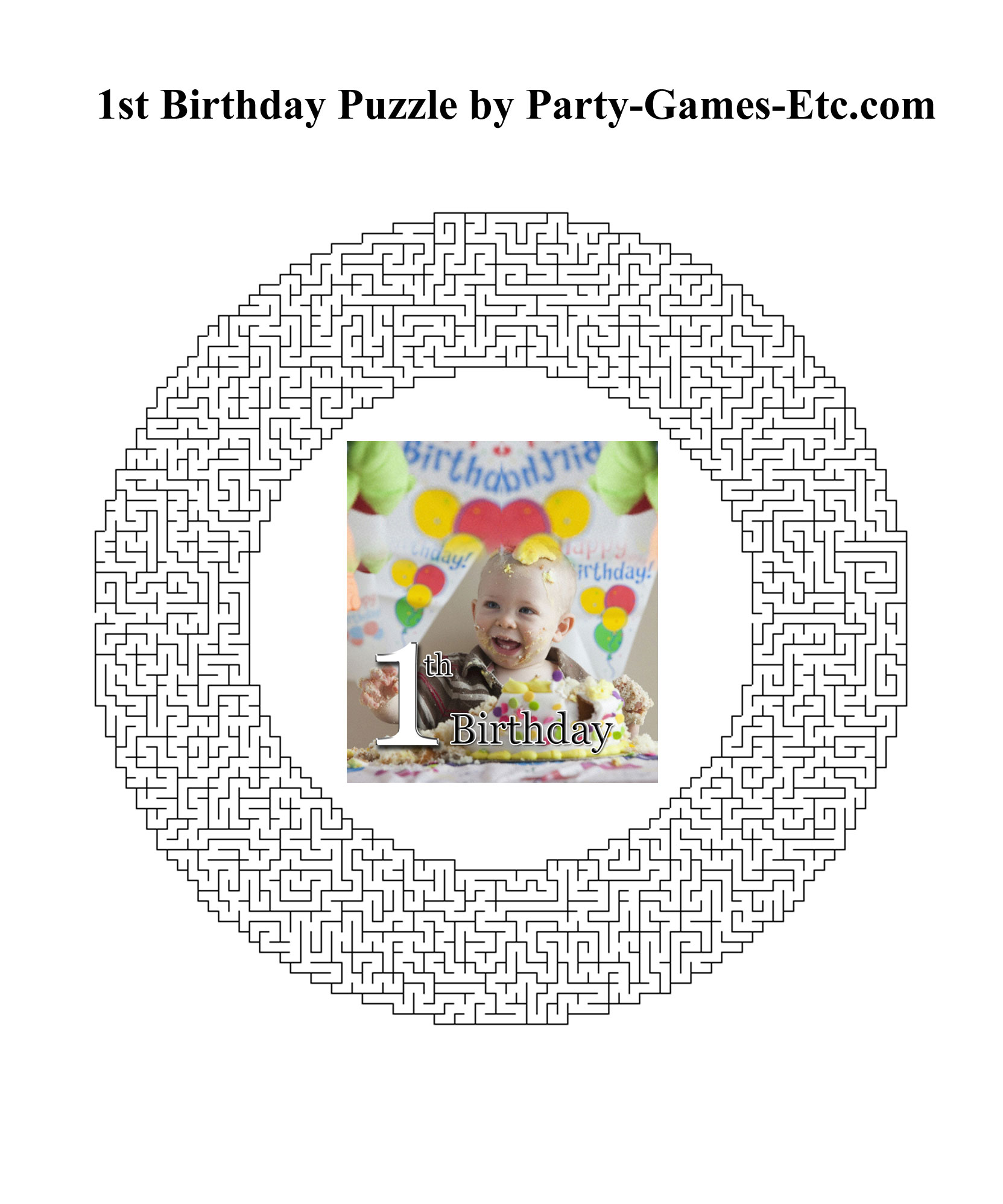 Free Printable 1st Birthday Party Game and Pen and Paper Activity