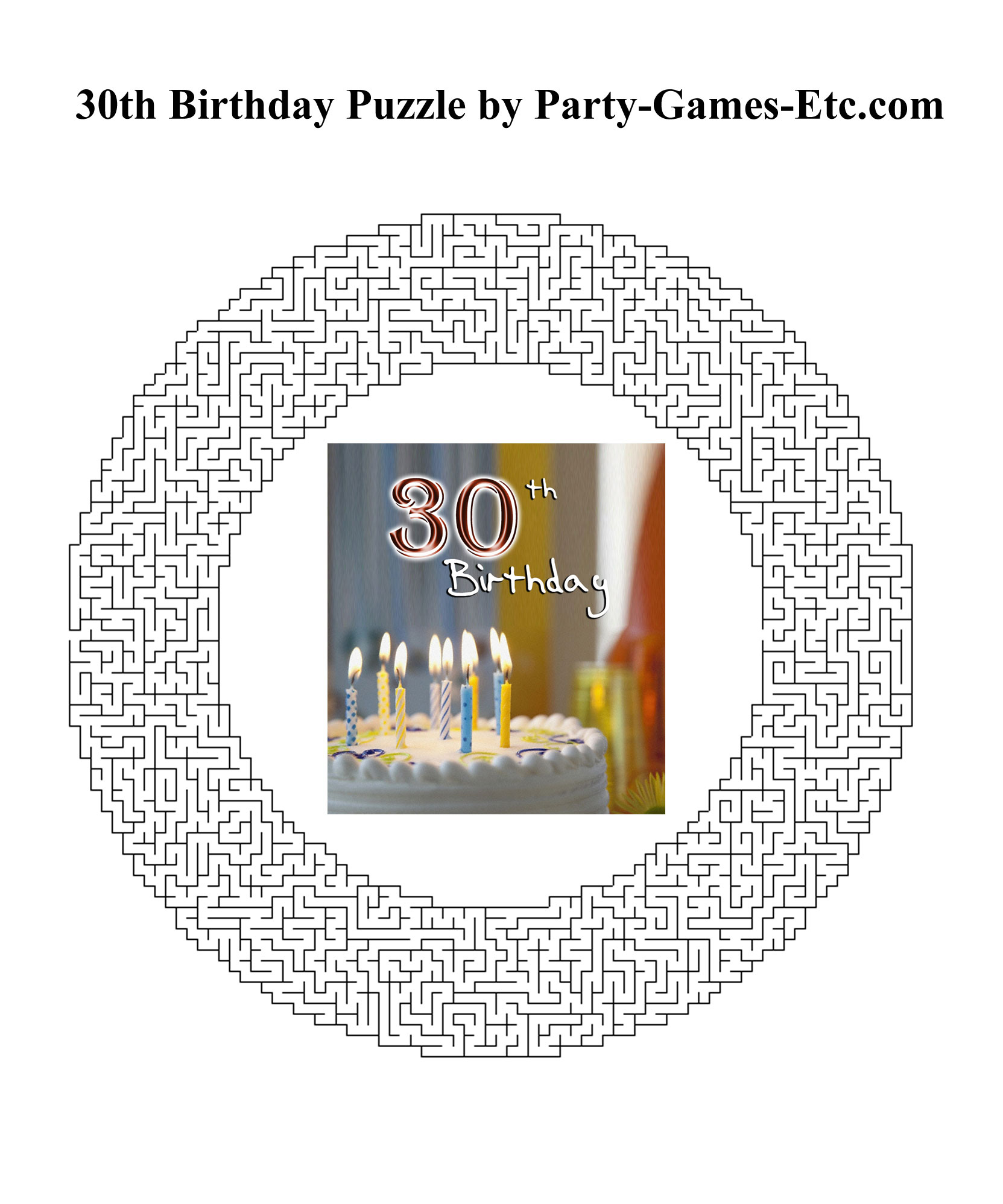 Free Printable 30th Birthday Party Game and Pen and Paper Activity