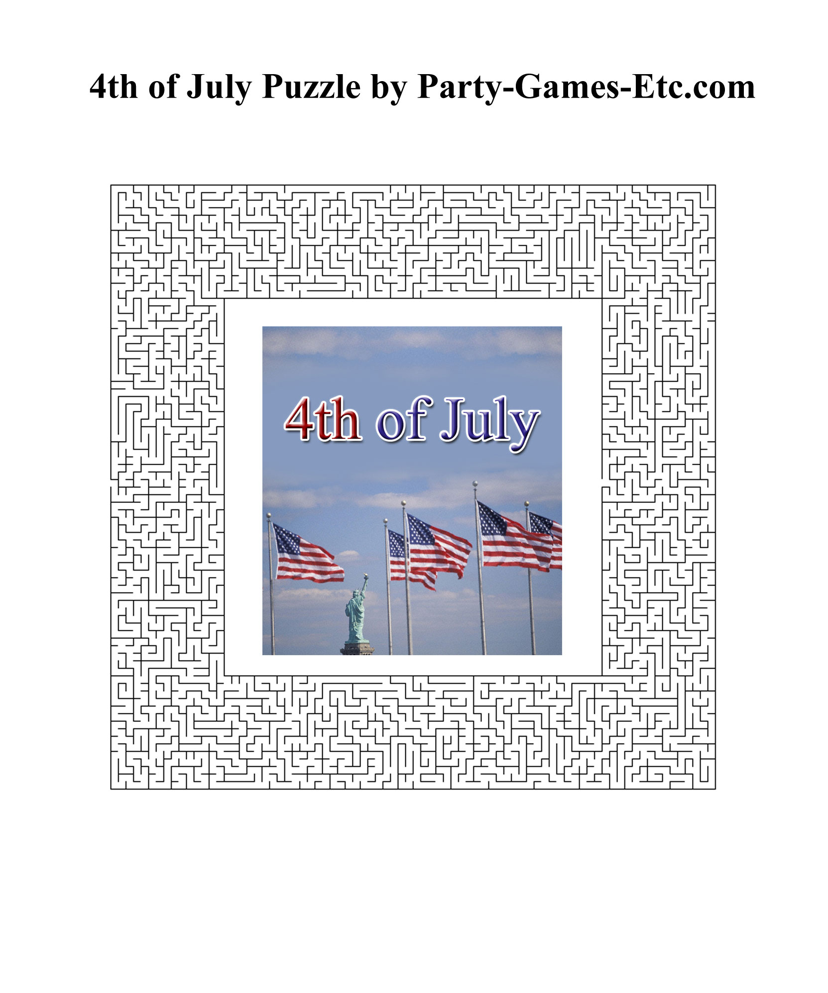 Free Printable 4th of July Party Game and Pen and Paper Activity