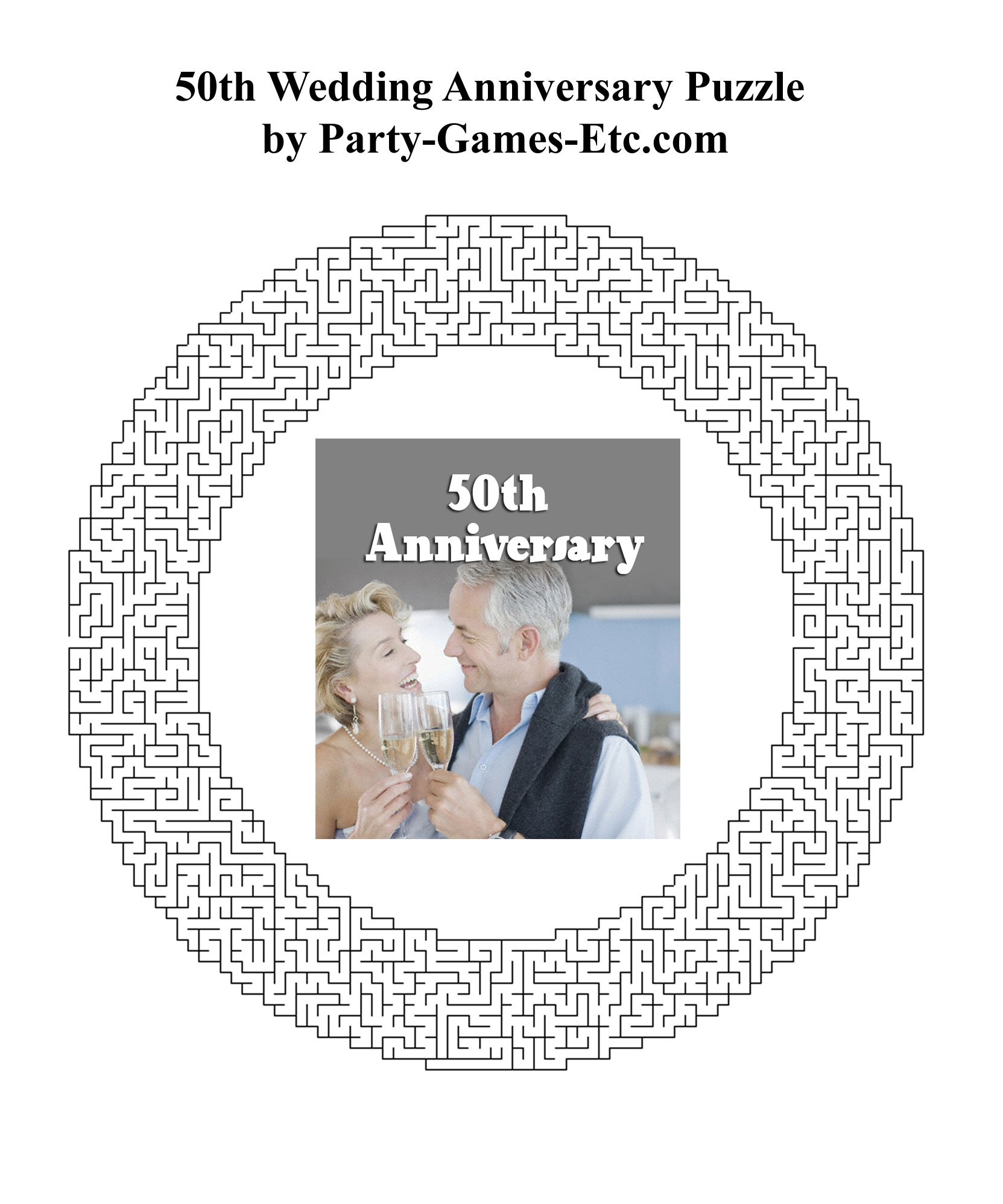 graphic regarding Retirement Party Games Free Printable identified as 50th Marriage ceremony Anniversary Bash Video games, Free of charge Printable Online games