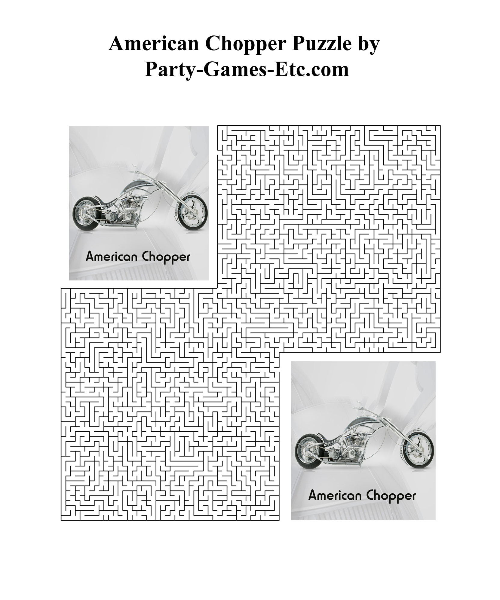 Free Printable American Chopper Party Game and Pen and Paper Activity