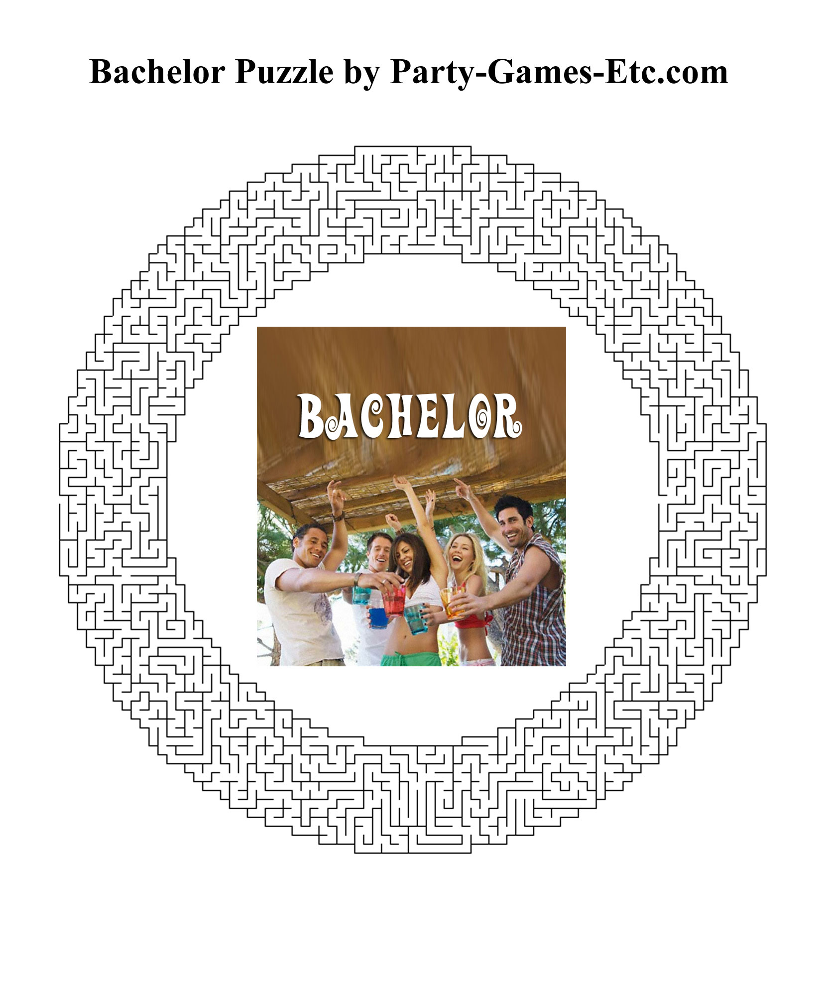 Free Printable Bachelor Party Game and Pen and Paper Activity