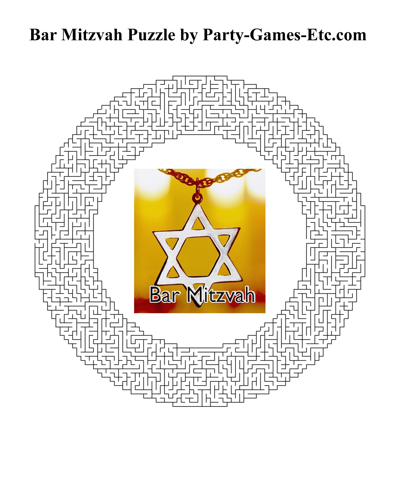 Free Printable Bar Mitzvah Party Game and Pen and Paper Activity