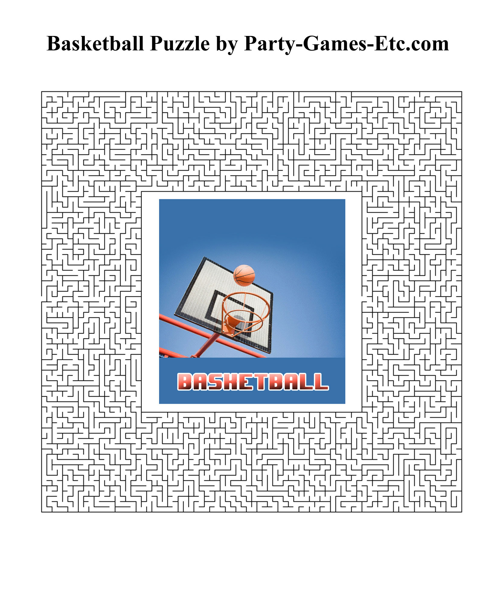 Free Printable Basketball Party Game and Pen and Paper Activity