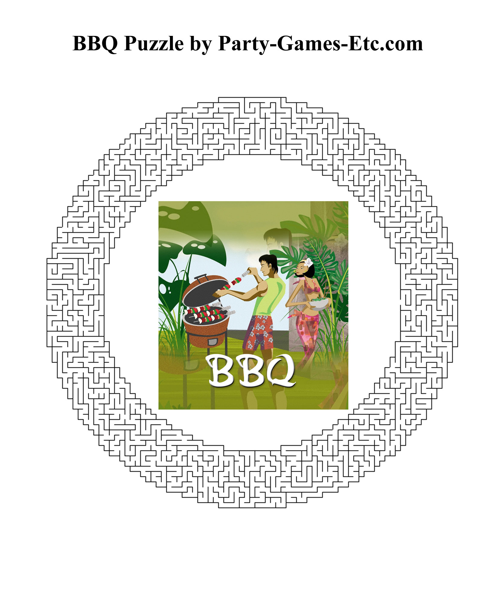 Free Printable BBQ Party Game and Pen and Paper Activity