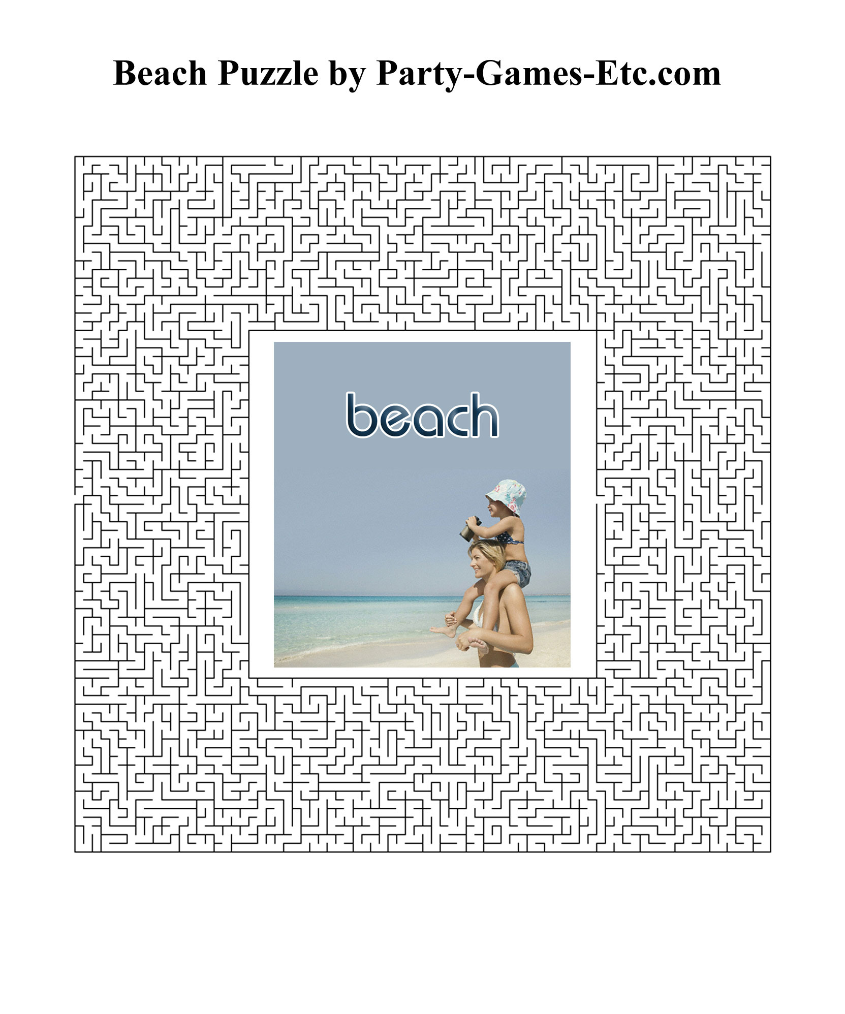 Free Printable Beach Party Game and Pen and Paper Activity