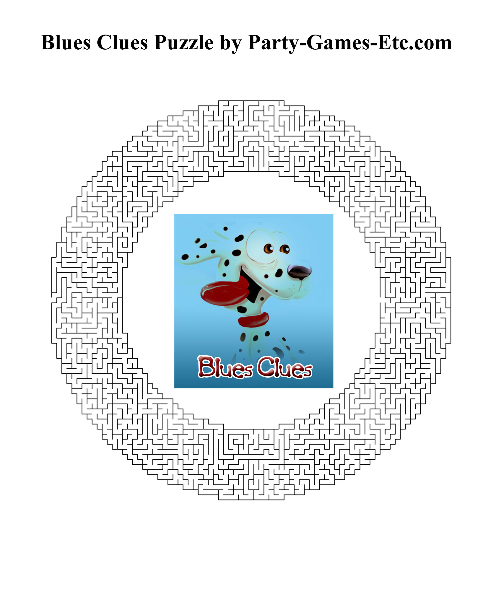 Free Printable Blues Clues Party Game and Pen and Paper Activity