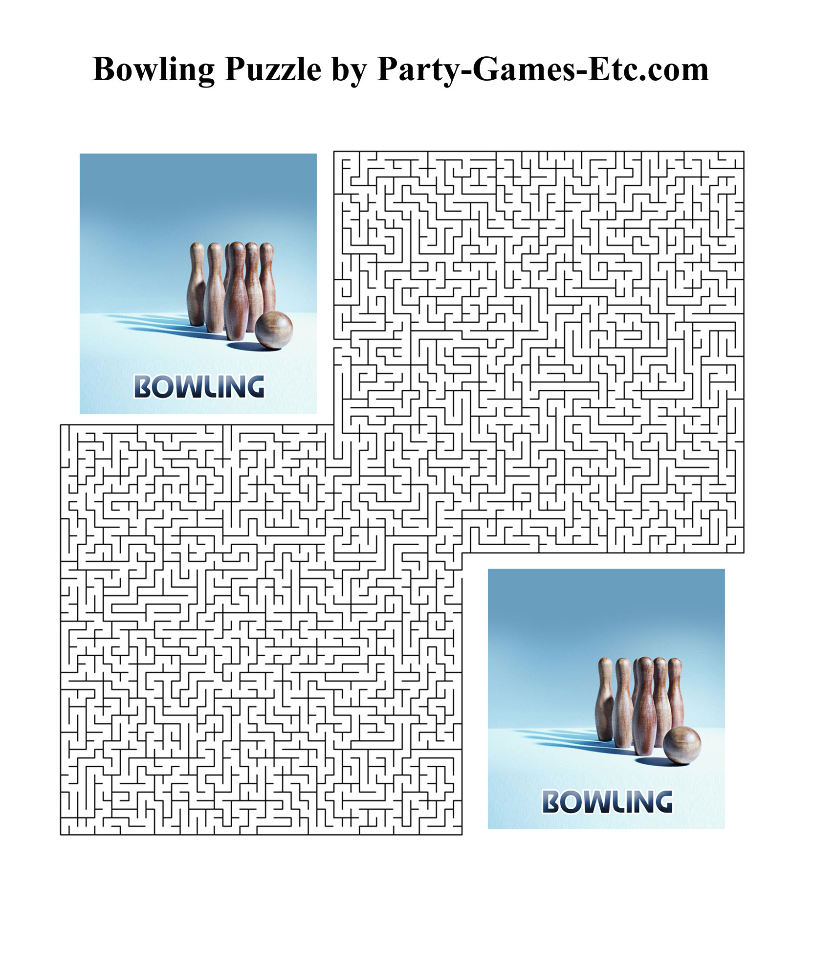 Free Printable Bowling Party Game and Pen and Paper Activity