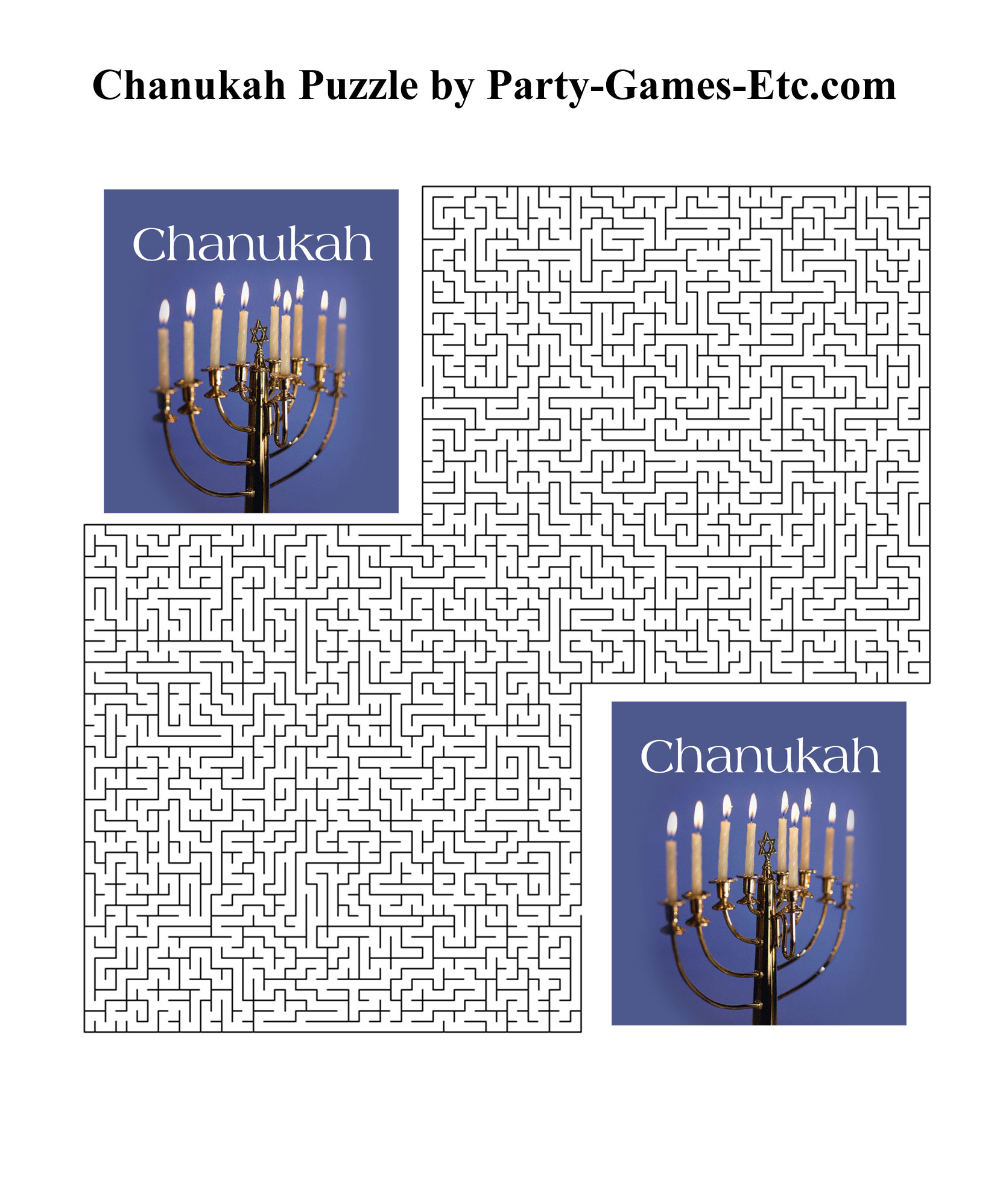 Free Printable Chanukah Party Game and Pen and Paper Activity