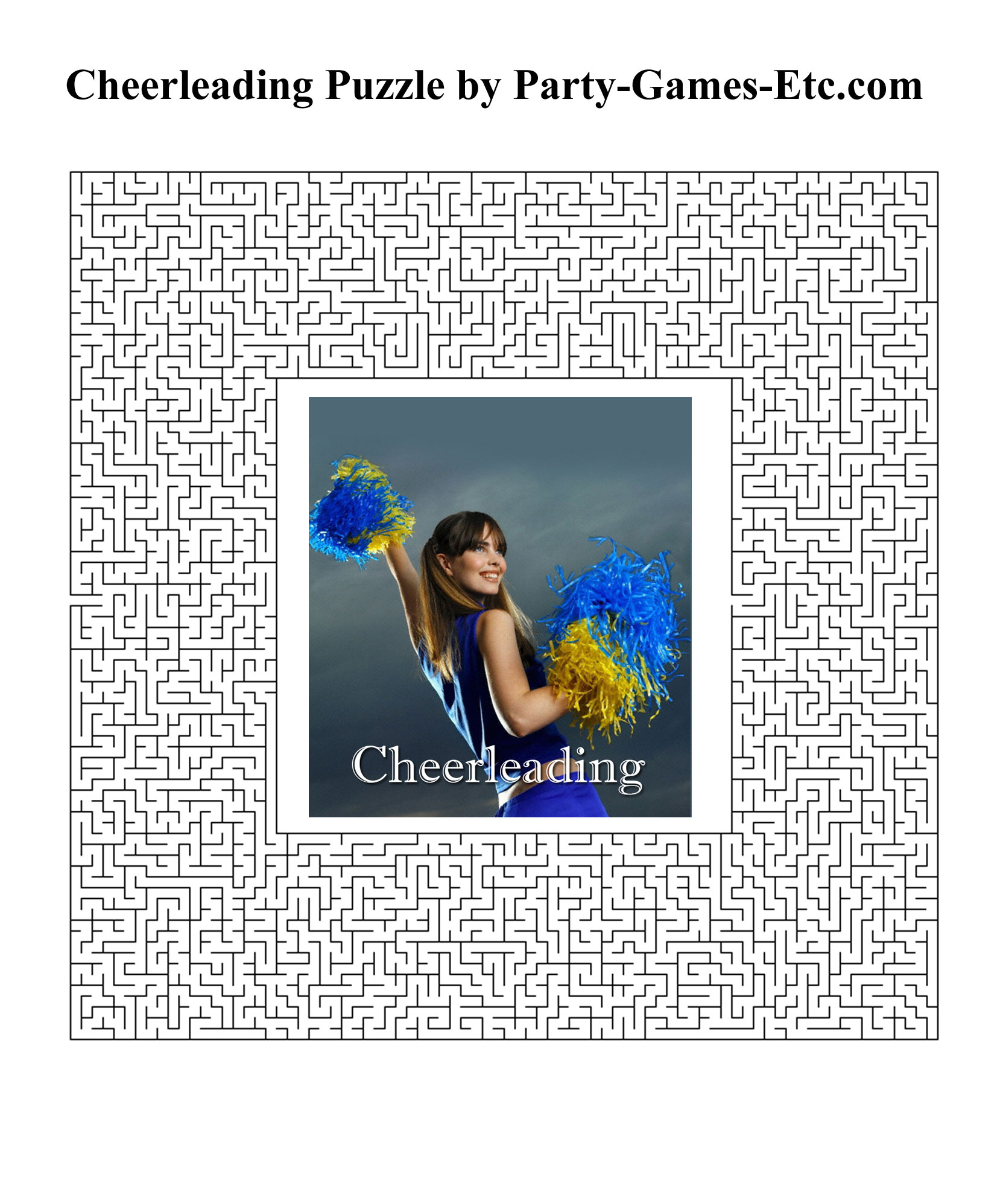Free Printable Cheerleading Party Game and Pen and Paper Activity
