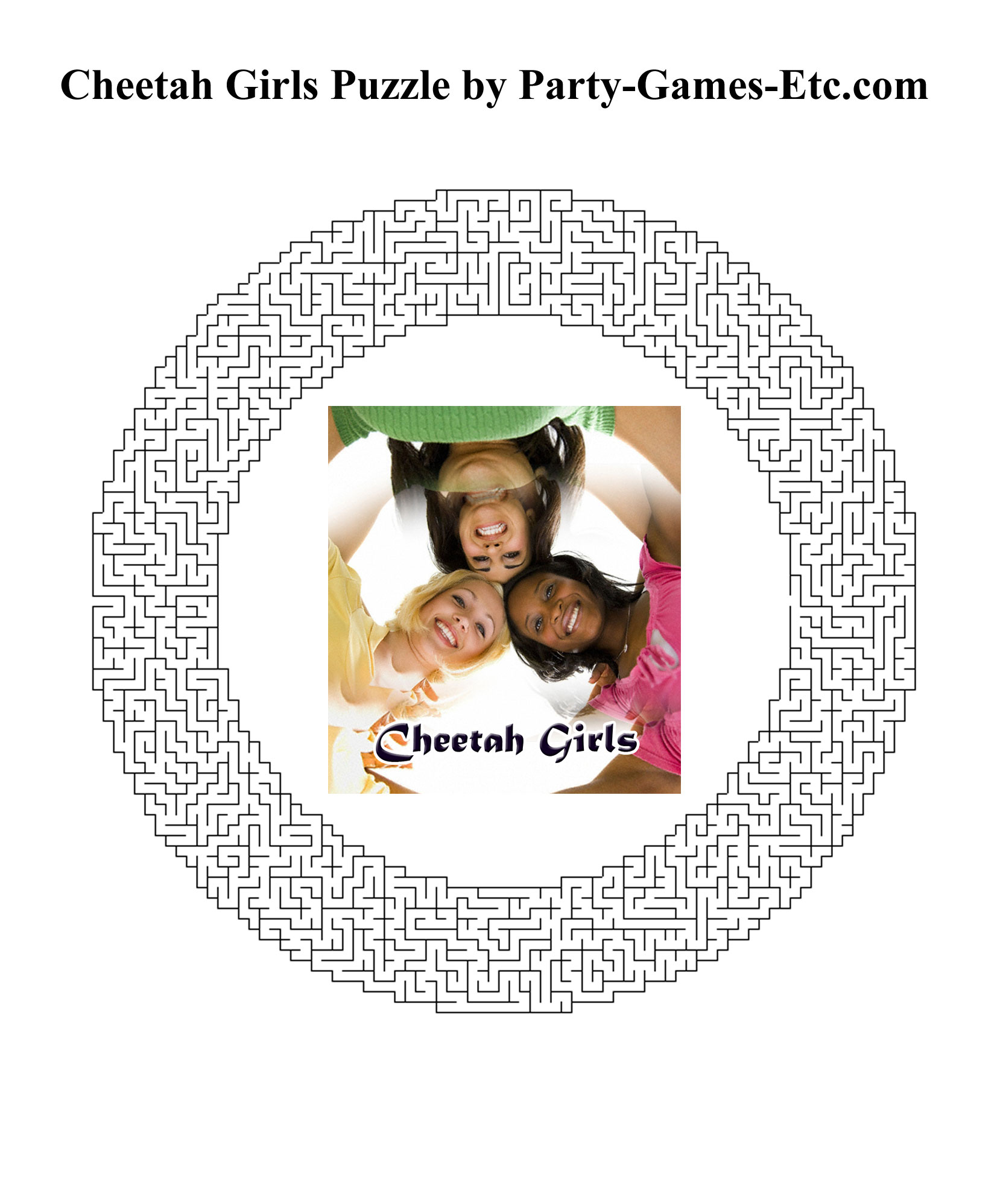 Free Printable Cheetah Girls Party Game and Pen and Paper Activity