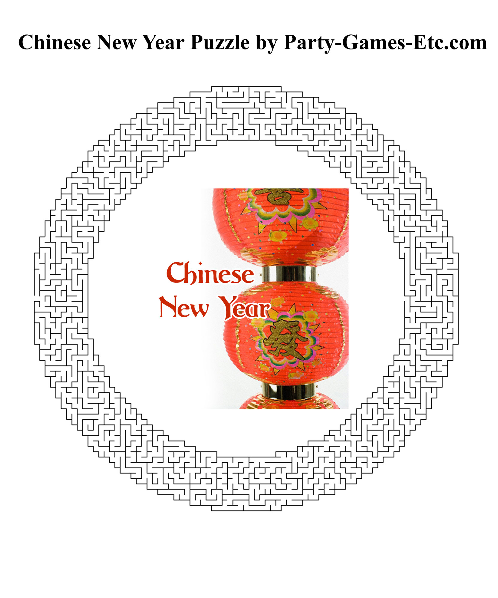 Free Printable Chinese New Year Party Game and Pen and Paper Activity