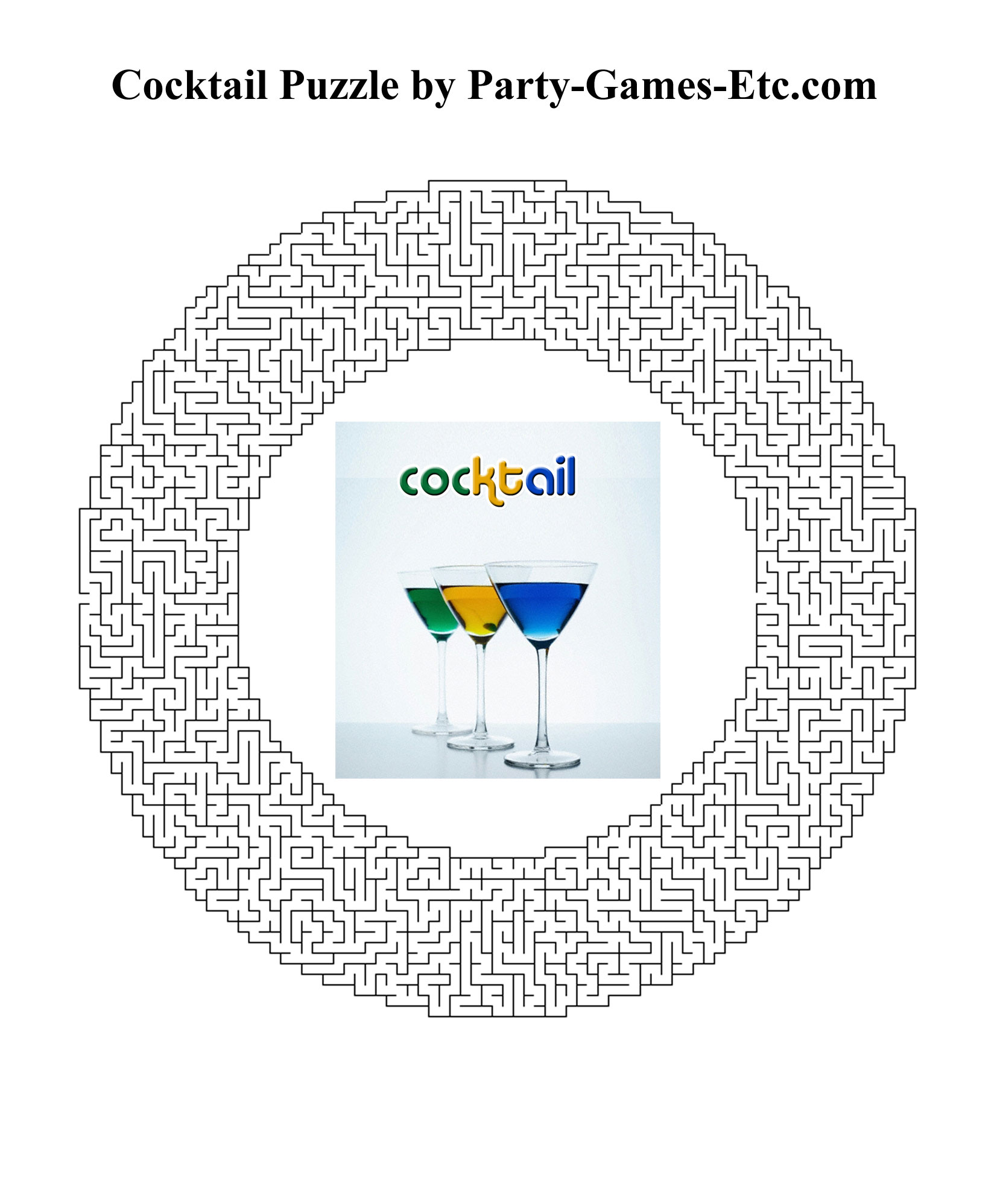 Free Printable Cocktail Party Game and Pen and Paper Activity