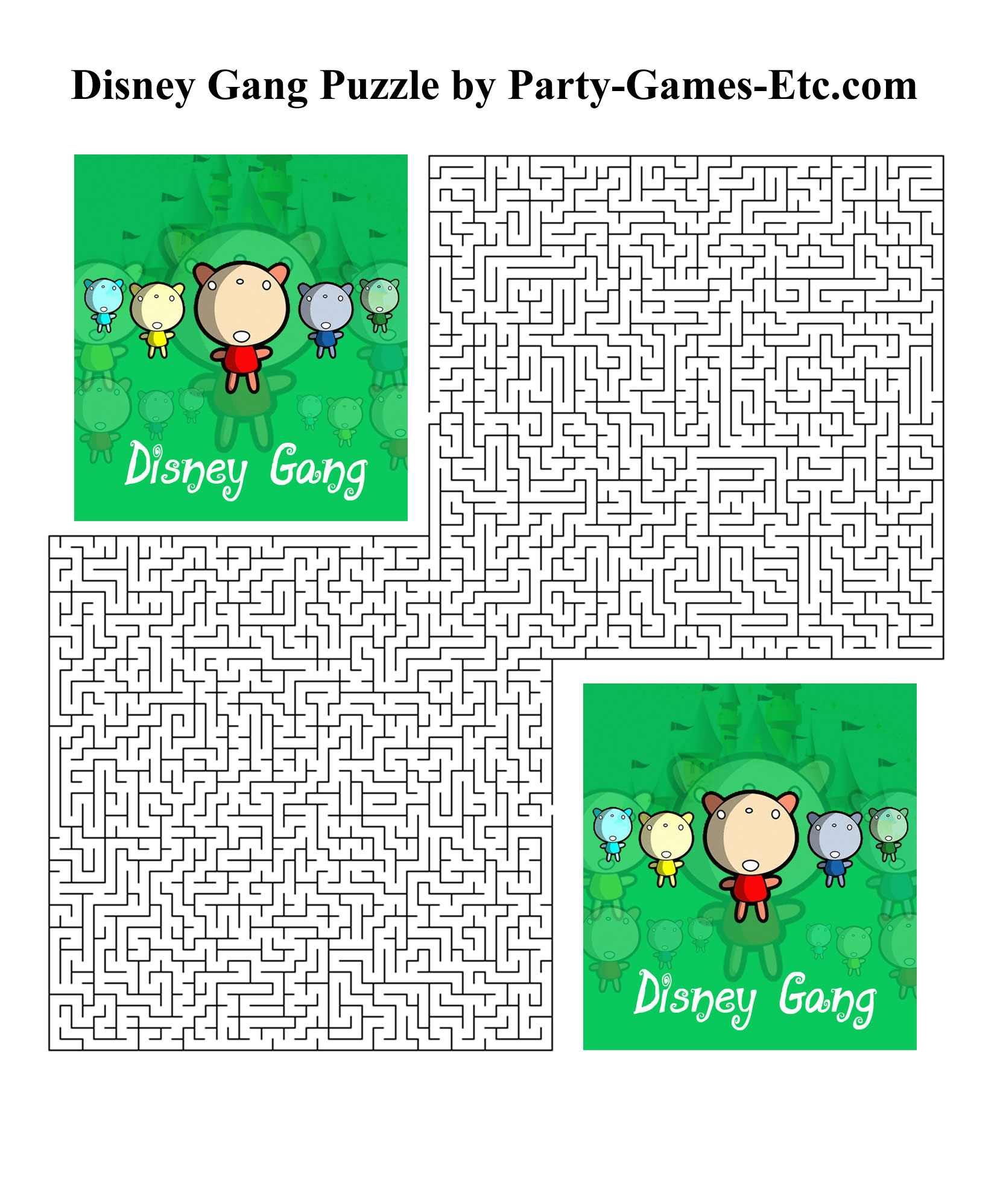 Free Printable Disney Gang Party Game and Pen and Paper Activity