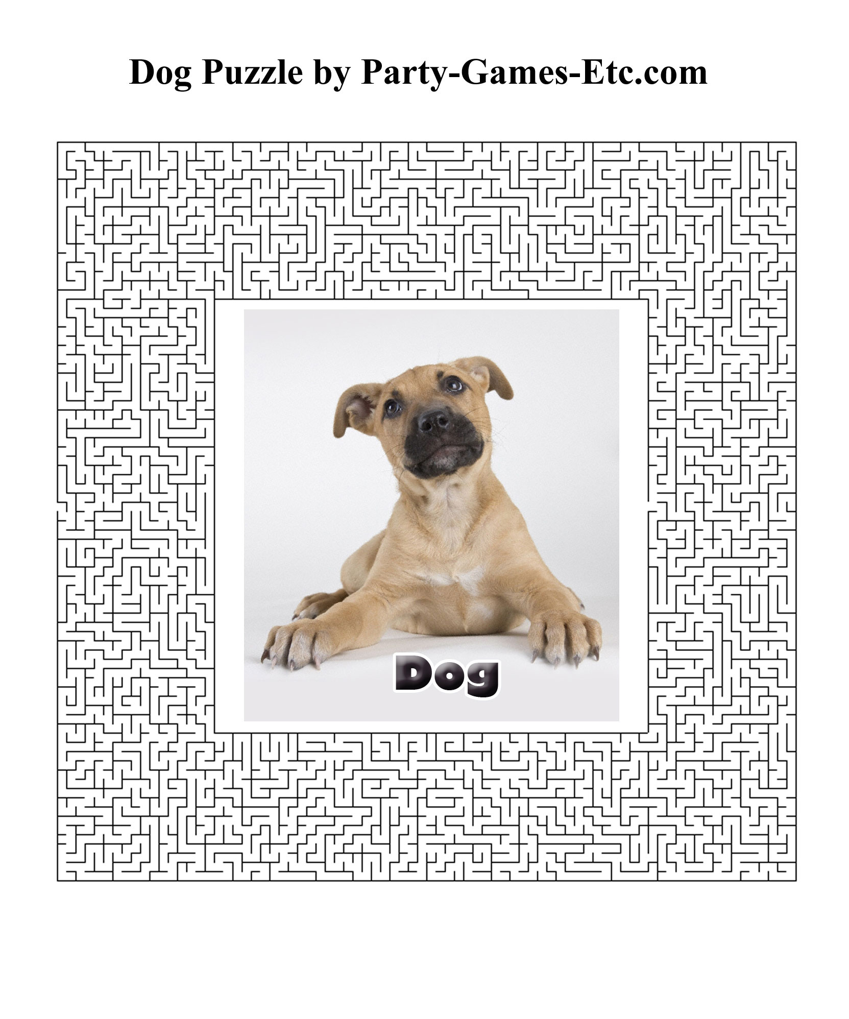 Free Printable Dog Party Game and Pen and Paper Activity