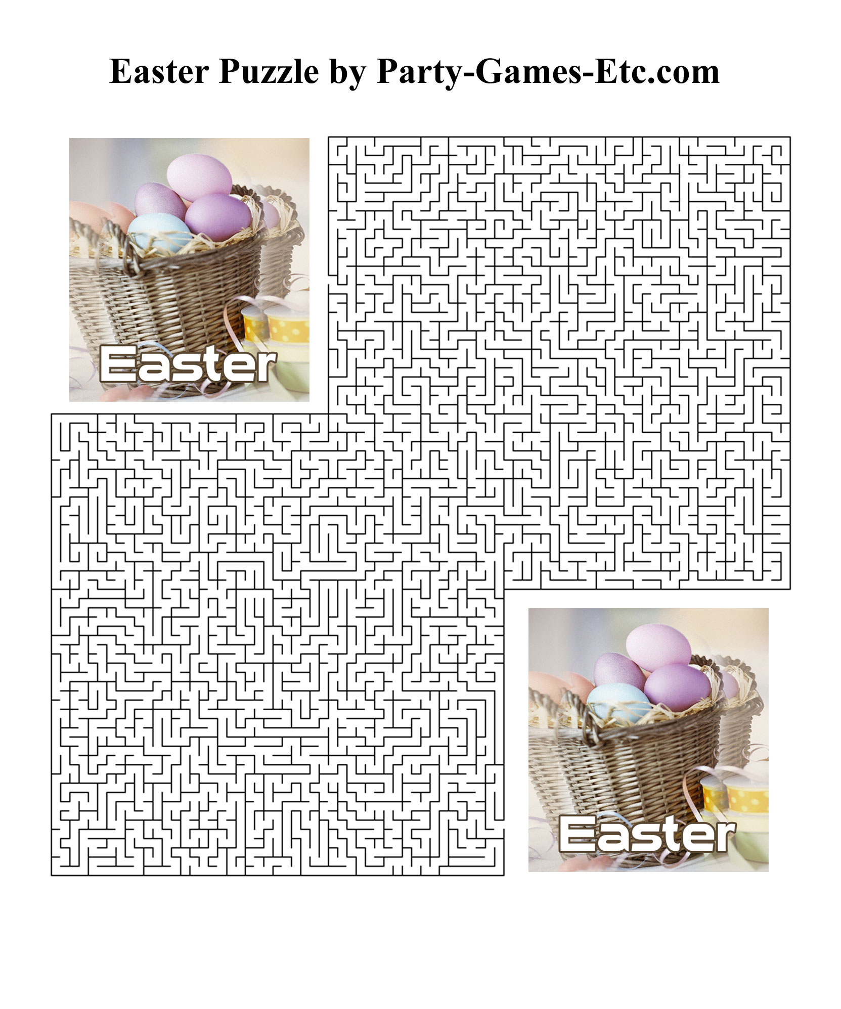 Easter Party Games, Free Printable Games and Activities for a Holiday ...