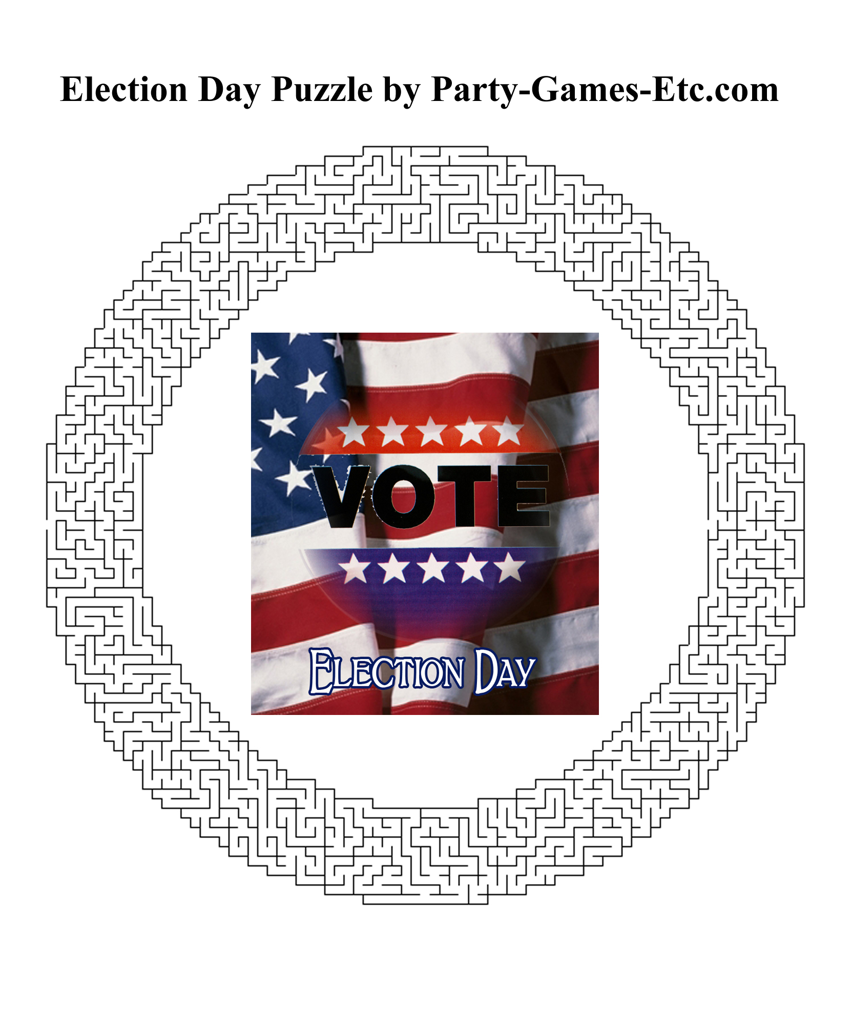 Free Printable Election Day Party Game and Pen and Paper Activity