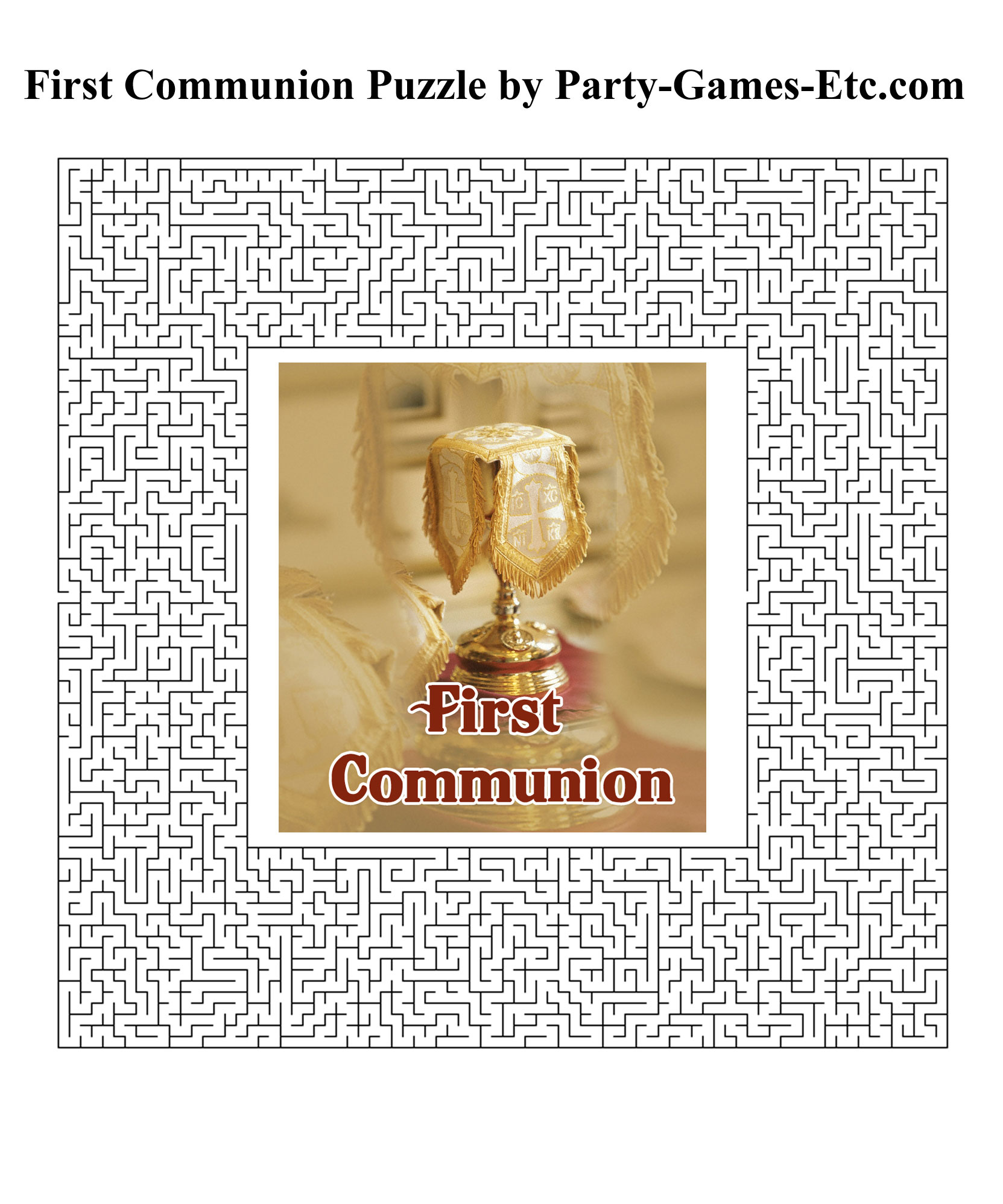 Free Printable First Communion Party Game and Pen and Paper Activity