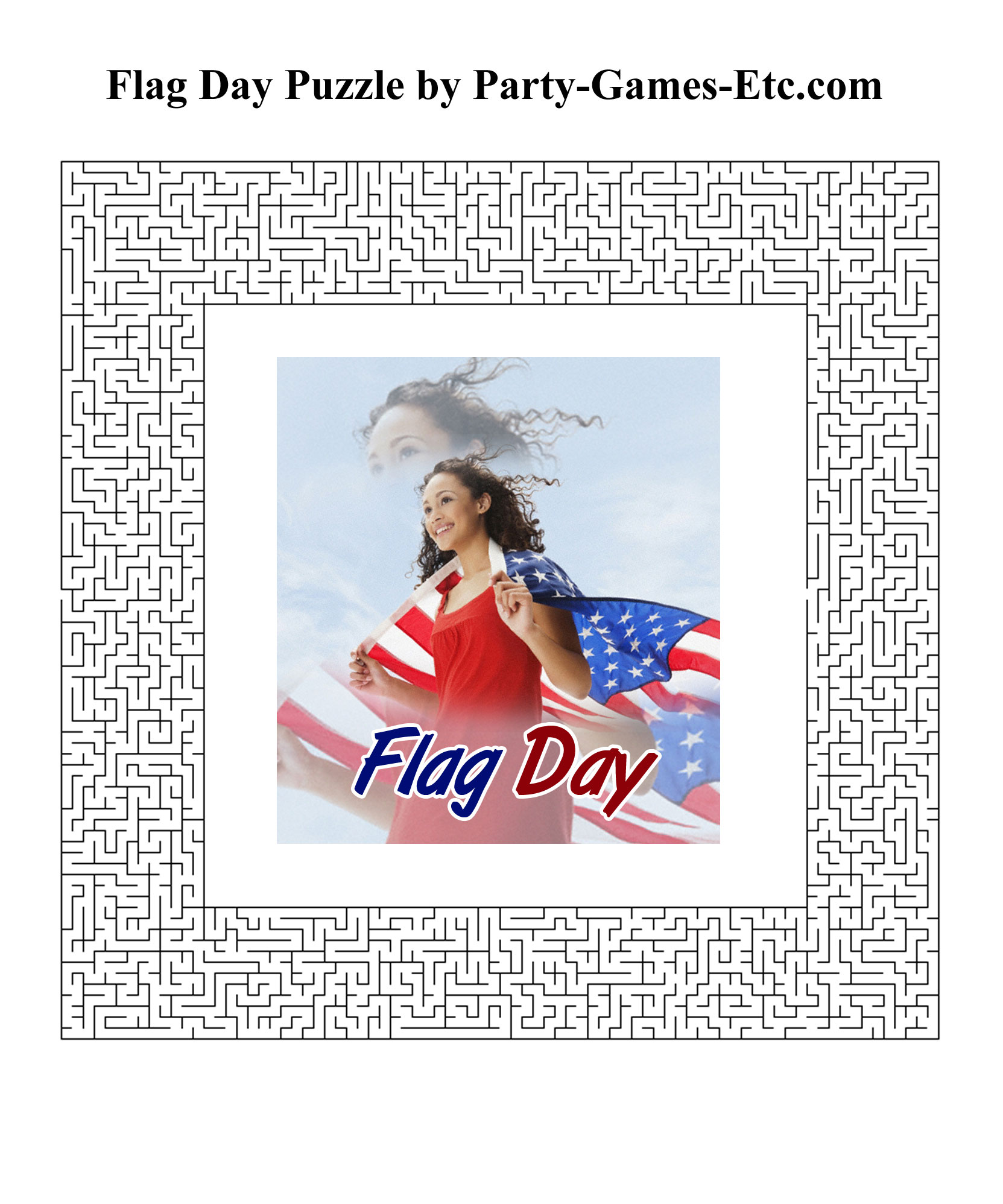 Free Printable Flag Day Party Game and Pen and Paper Activity