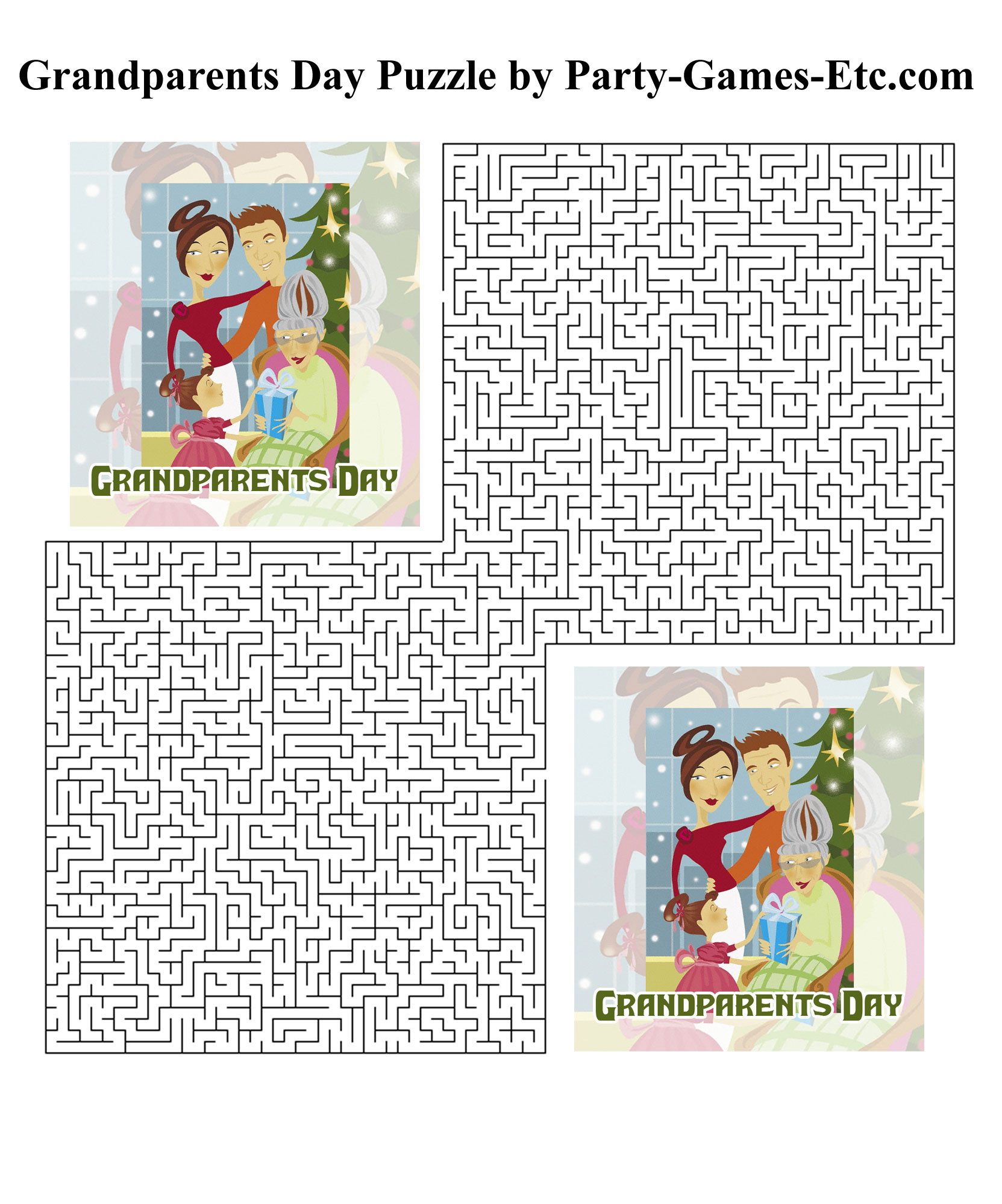 Free Printable Grandparents Day Party Game and Pen and Paper Activity