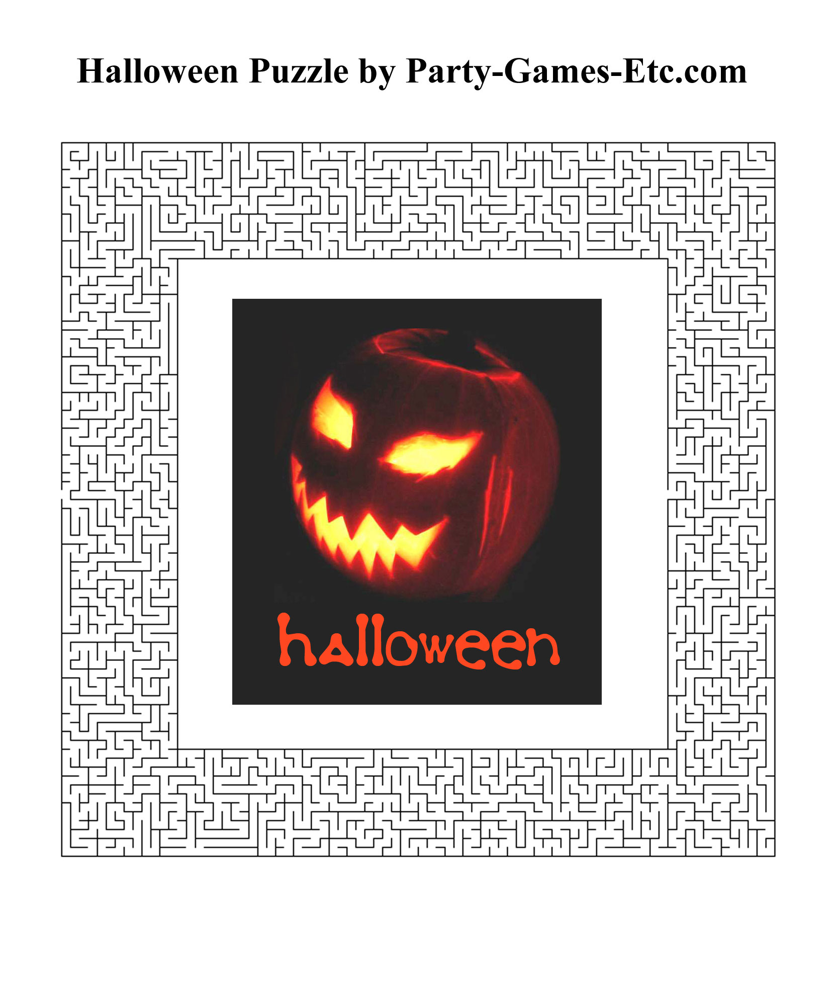 Free Printable Halloween Party Game and Pen and Paper Activity