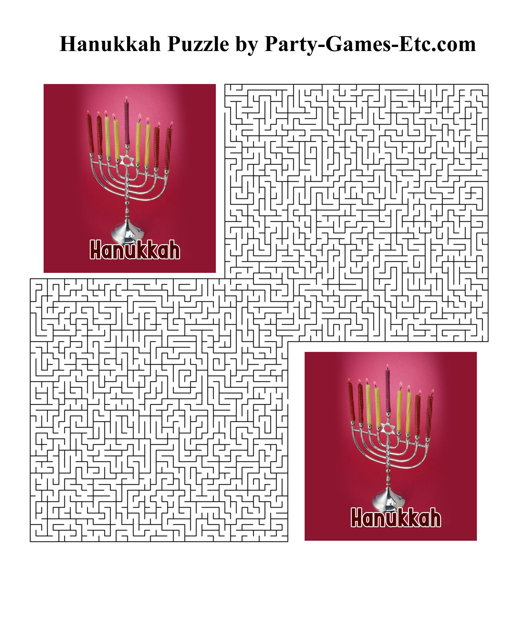 Free Printable Hanukkah Party Game and Pen and Paper Activity