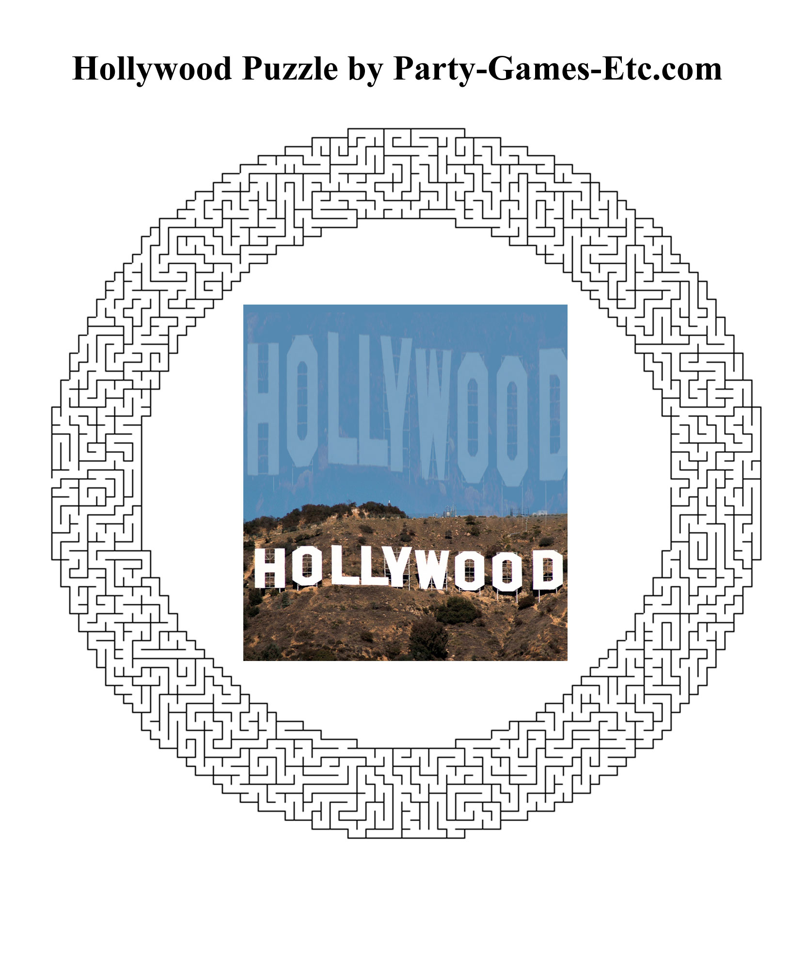 Free Printable Hollywood Party Game and Pen and Paper Activity