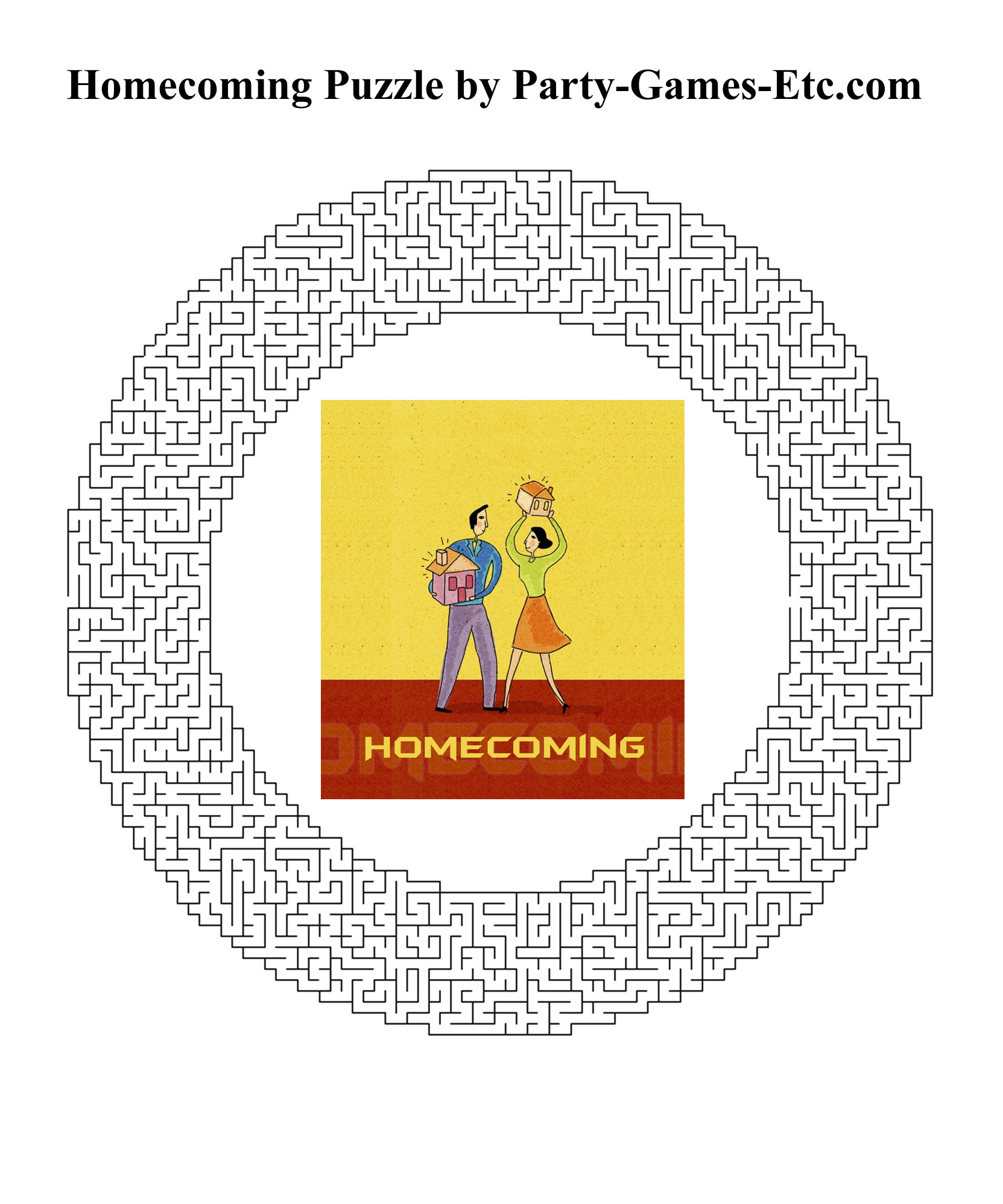 Free Printable Homecoming Party Game and Pen and Paper Activity