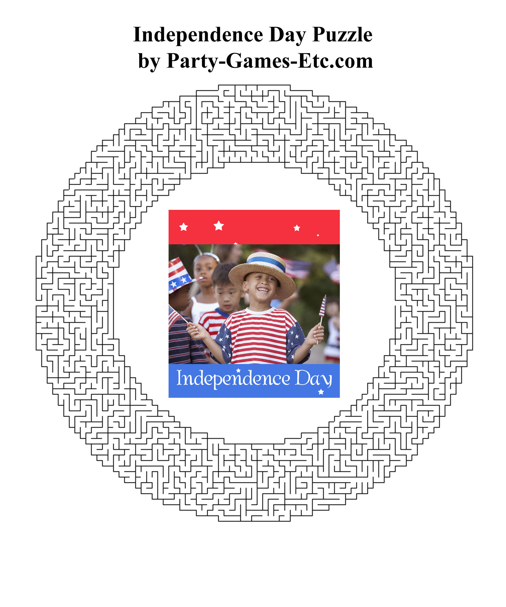 Free Printable Independence Day Party Game and Pen and Paper Activity