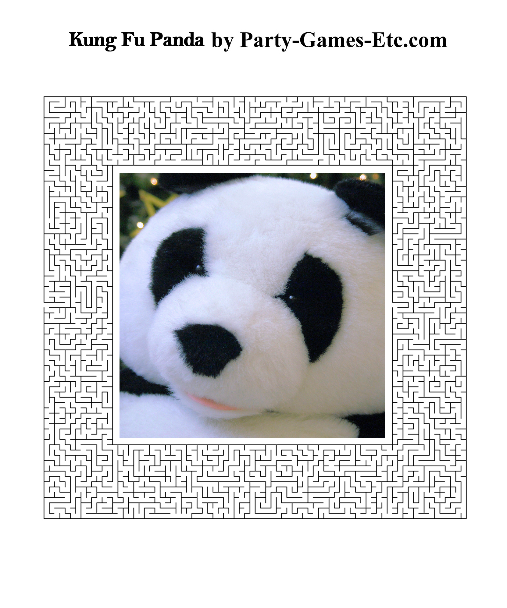 Free Printable Kung Fu Panda Party Game and Pen and Paper Activity