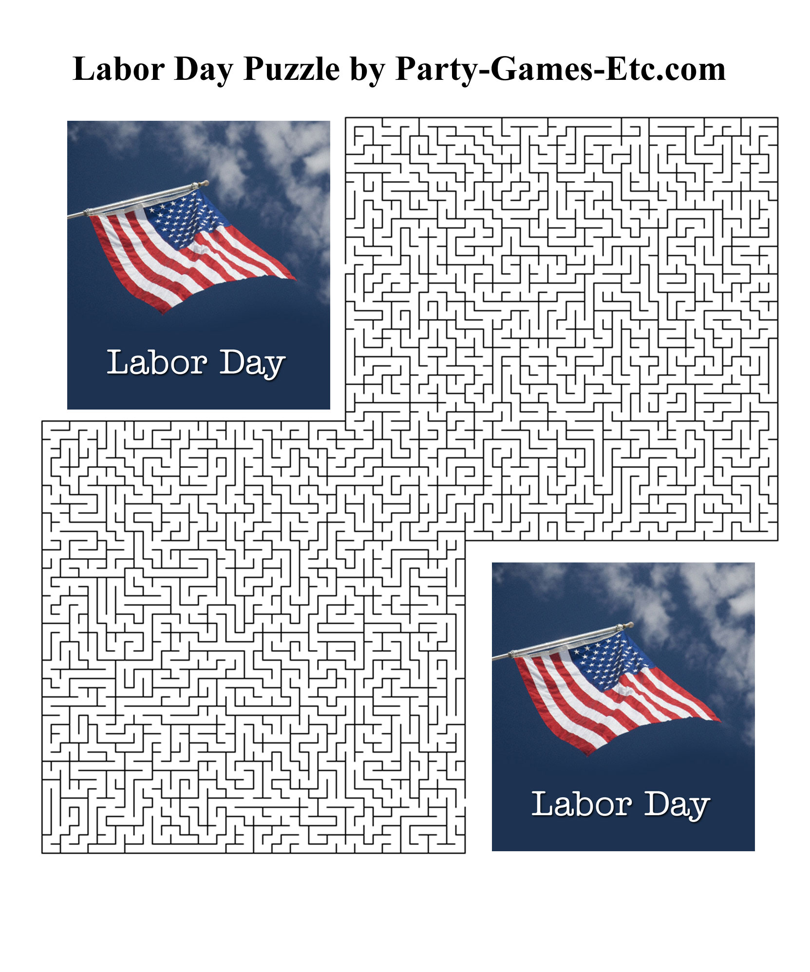 Free Printable Labor Day Party Game and Pen and Paper Activity