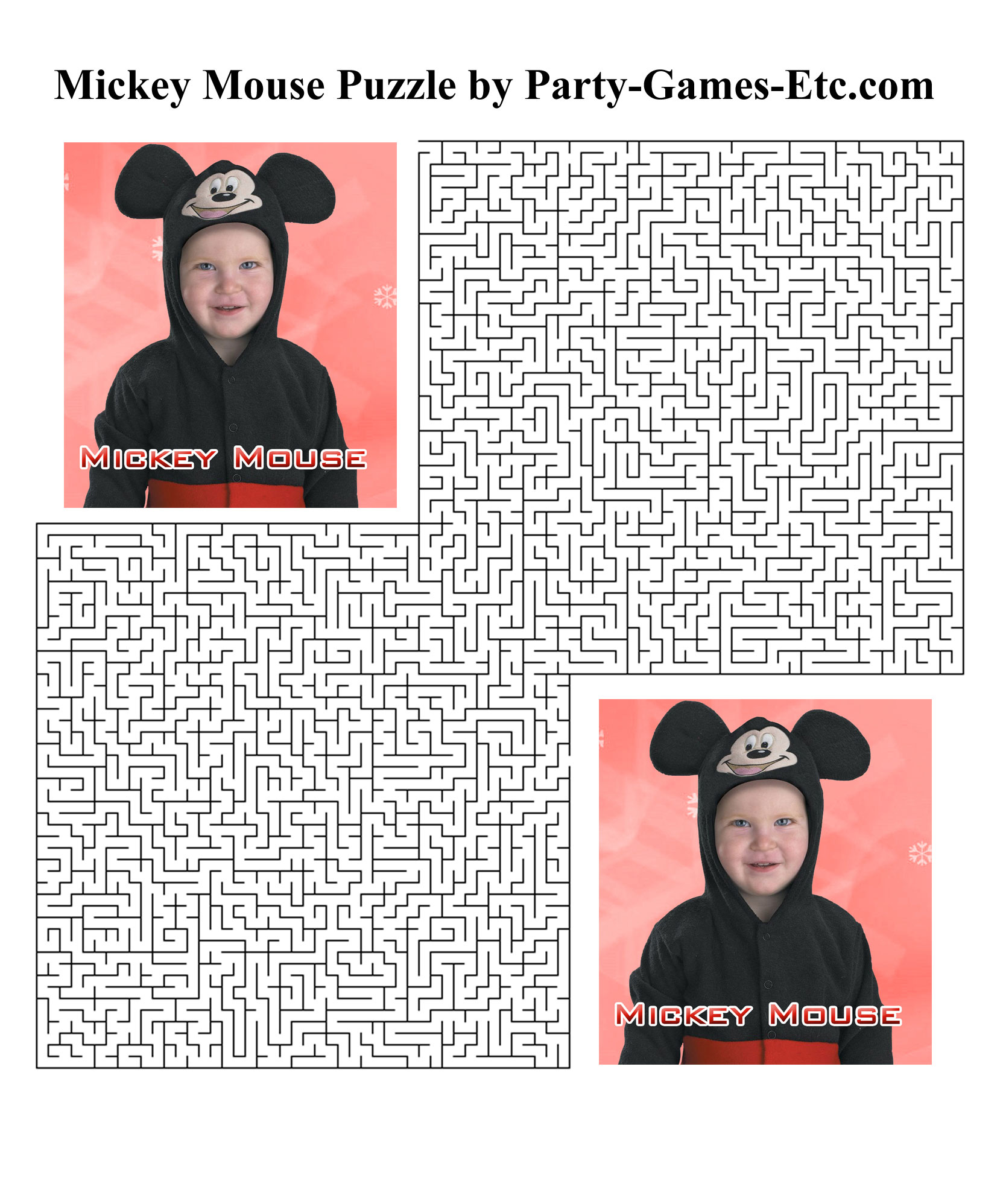 Free Printable Mickey Mouse Party Game and Pen and Paper Activity