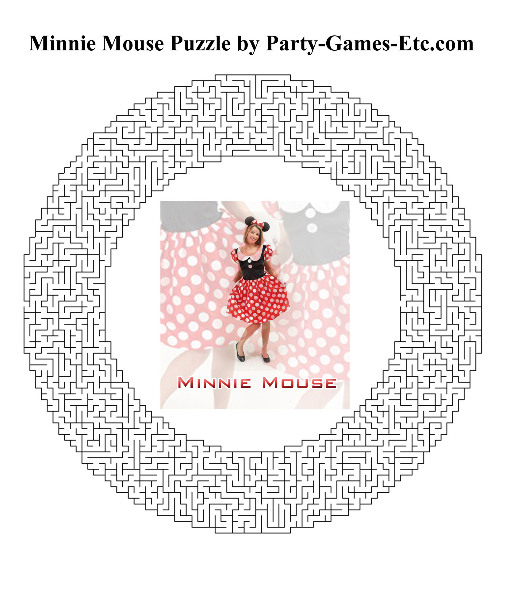 Free Printable Minnie Mouse Party Game and Pen and Paper Activity