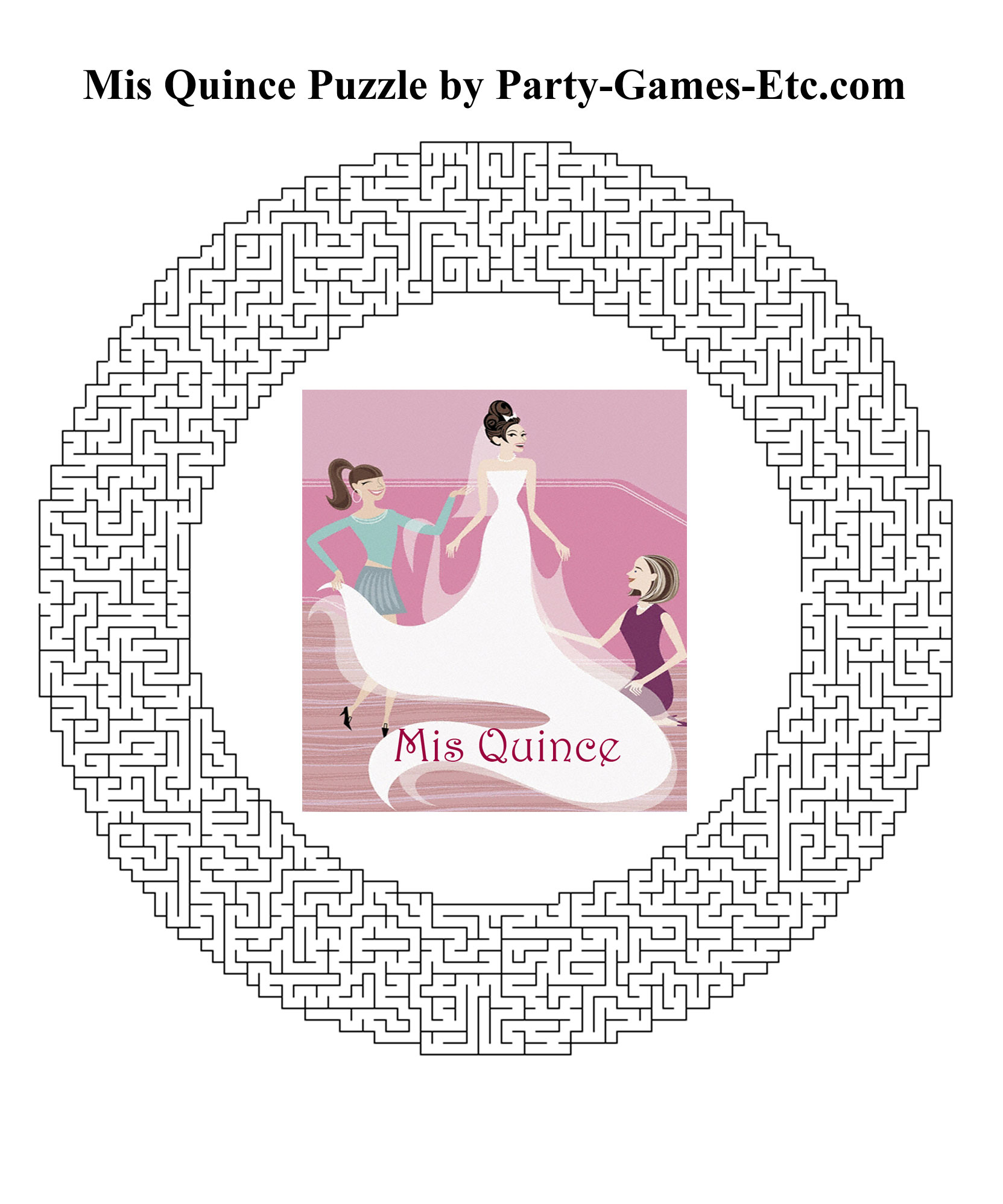 Free Printable Mis Quince Party Game and Pen and Paper Activity