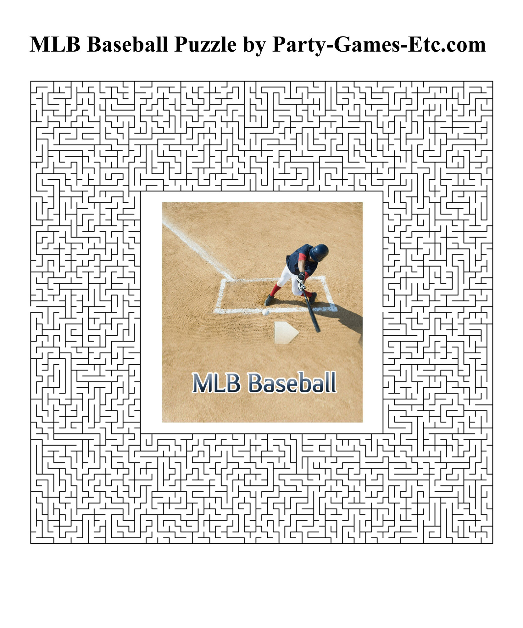 Free Printable MLB Baseball Party Game and Pen and Paper Activity