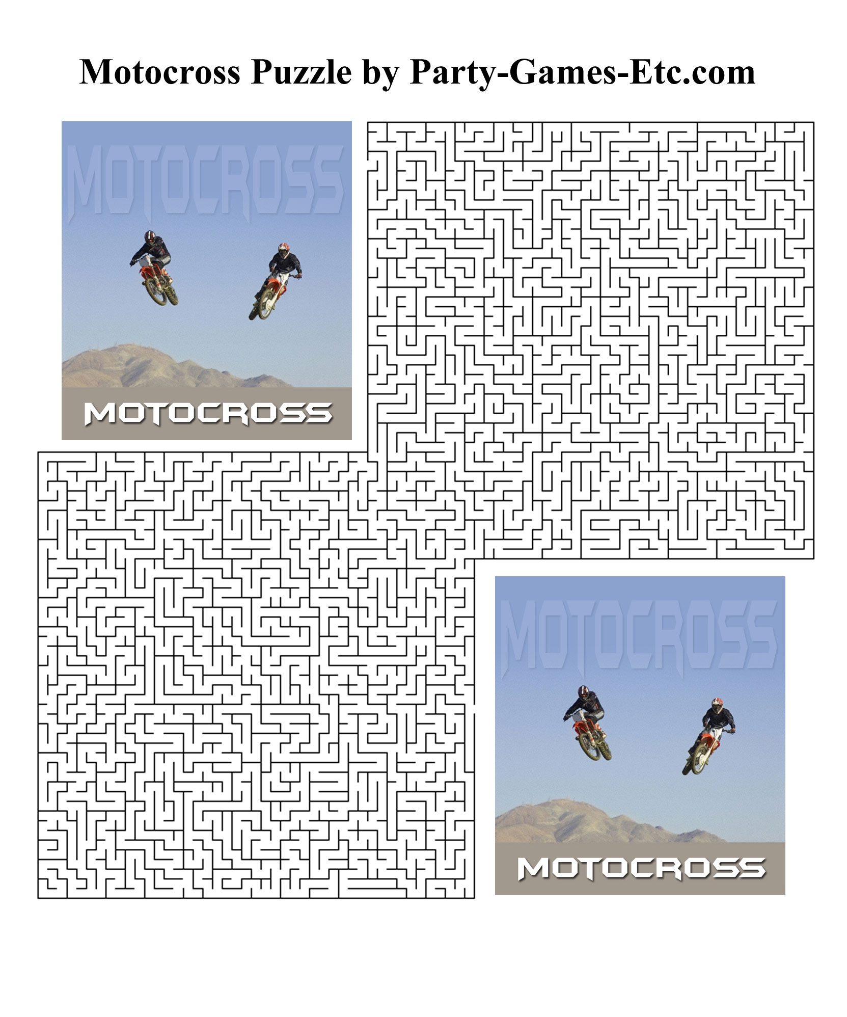 Free Printable Motocross Party Game and Pen and Paper Activity