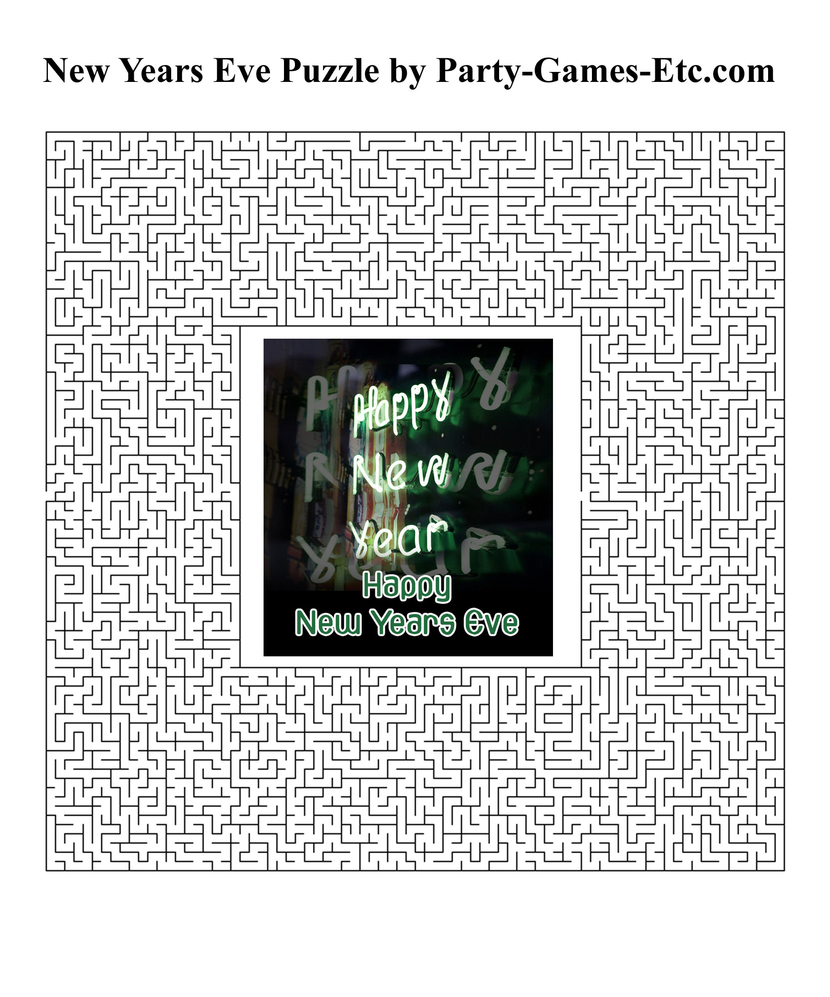 Free Printable New Years Eve Party Game and Pen and Paper Activity