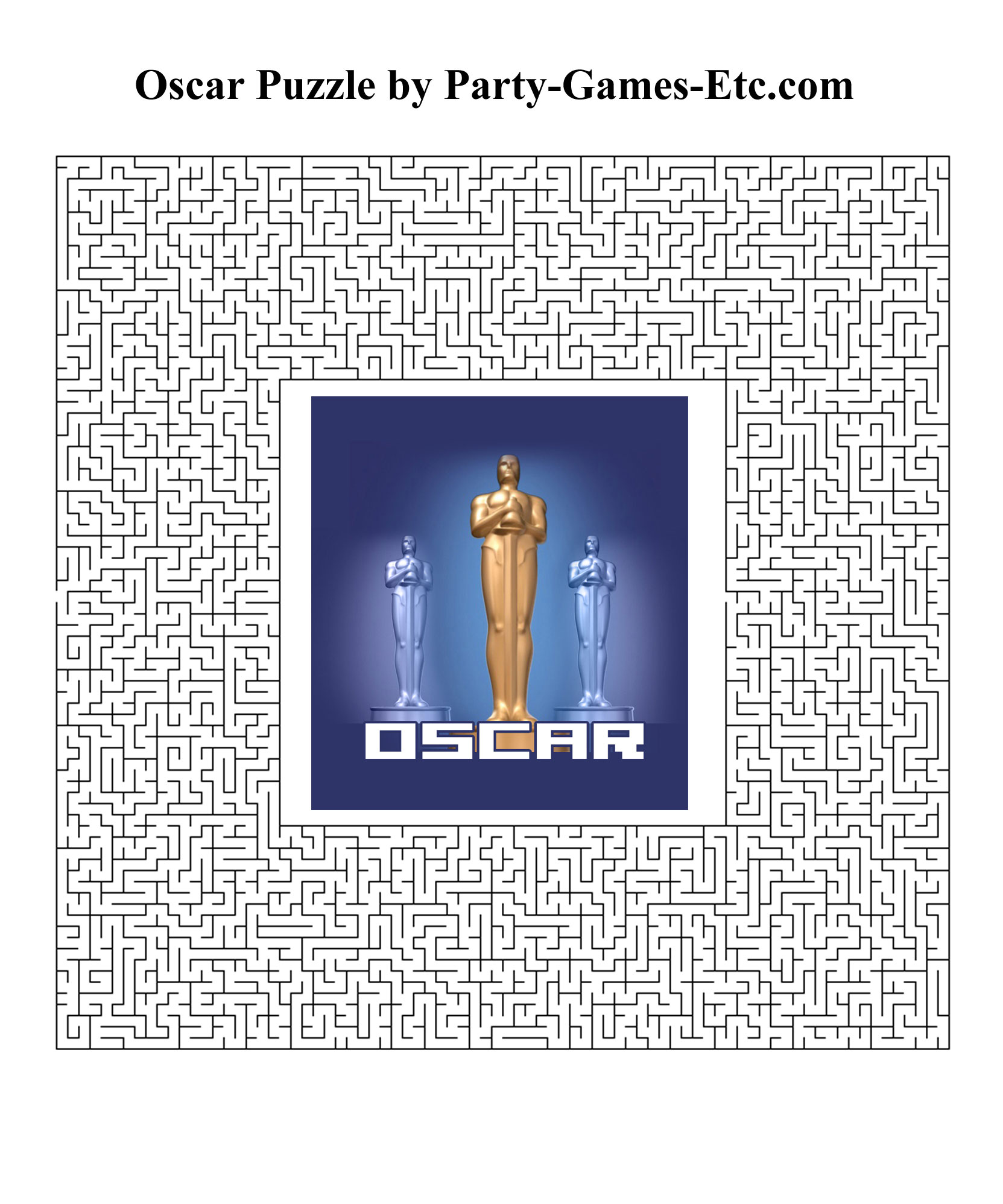 Free Printable Oscar Party Game and Pen and Paper Activity