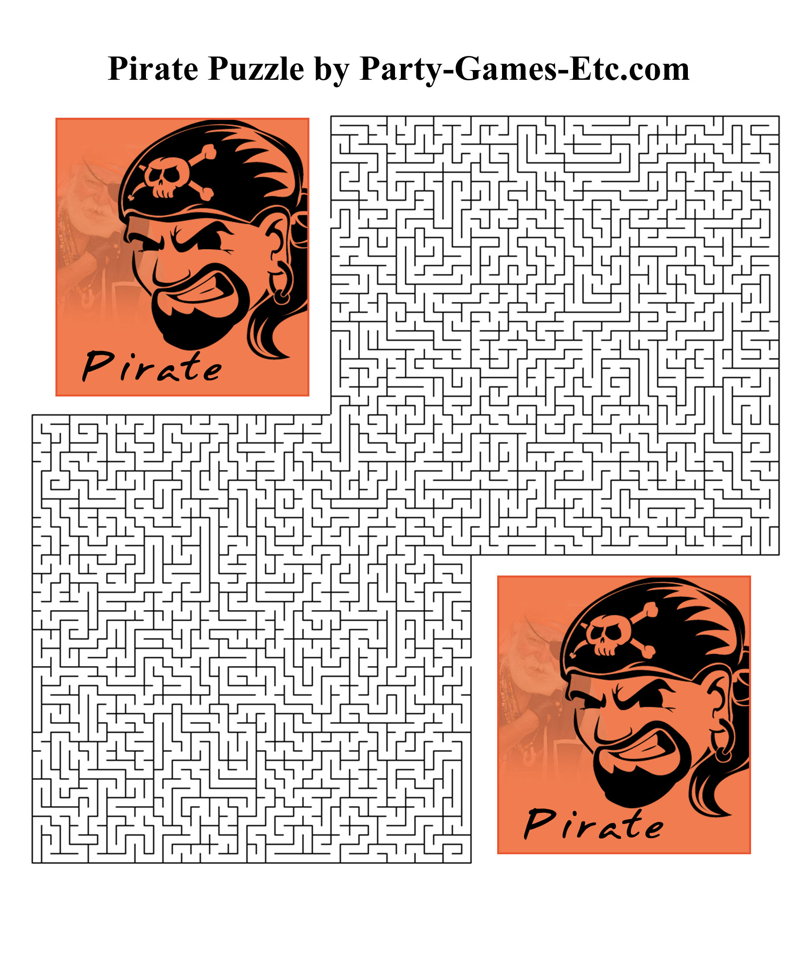Free Printable Pirate Party Game and Pen and Paper Activity