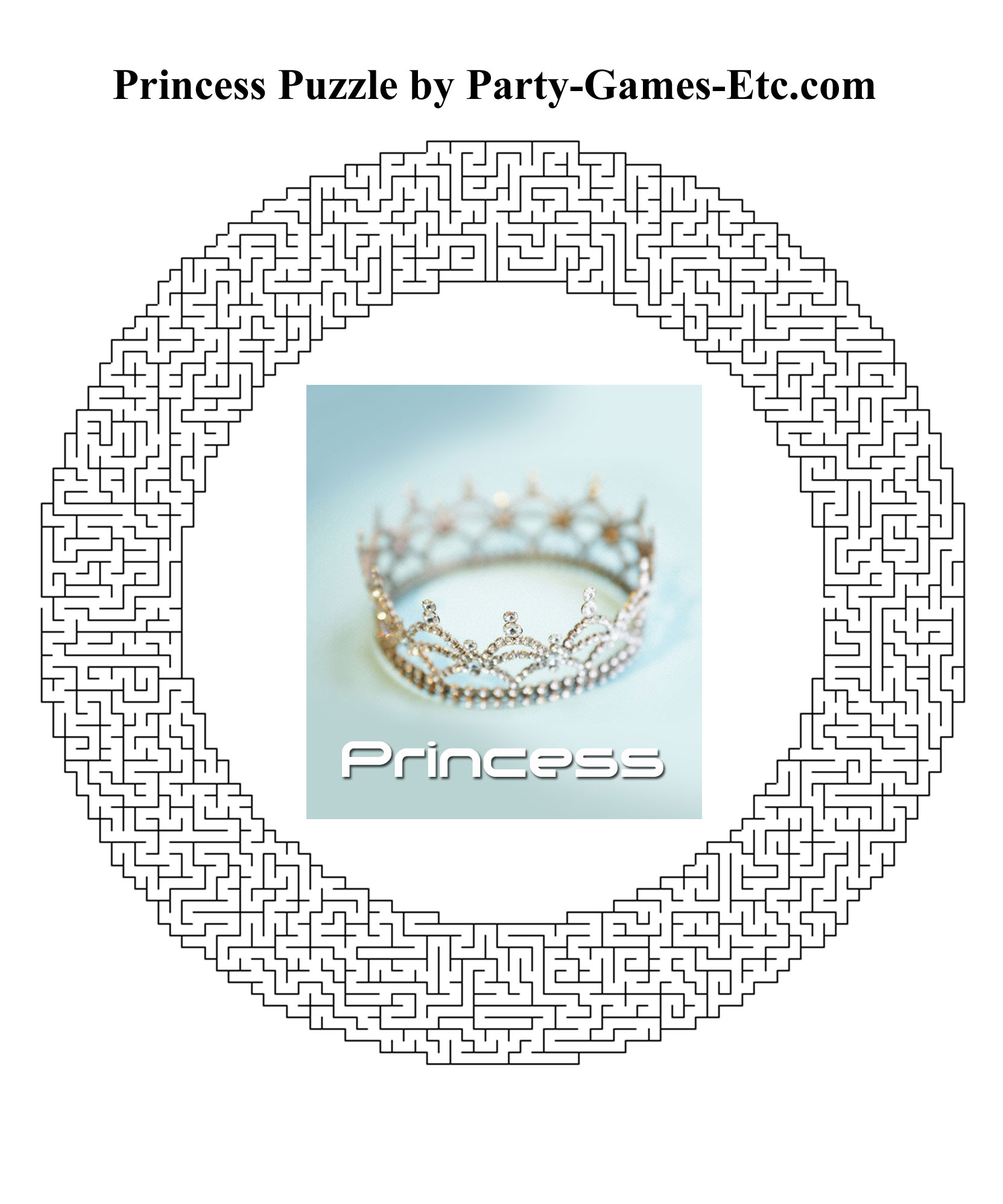 Free Printable Princess Party Game and Pen and Paper Activity