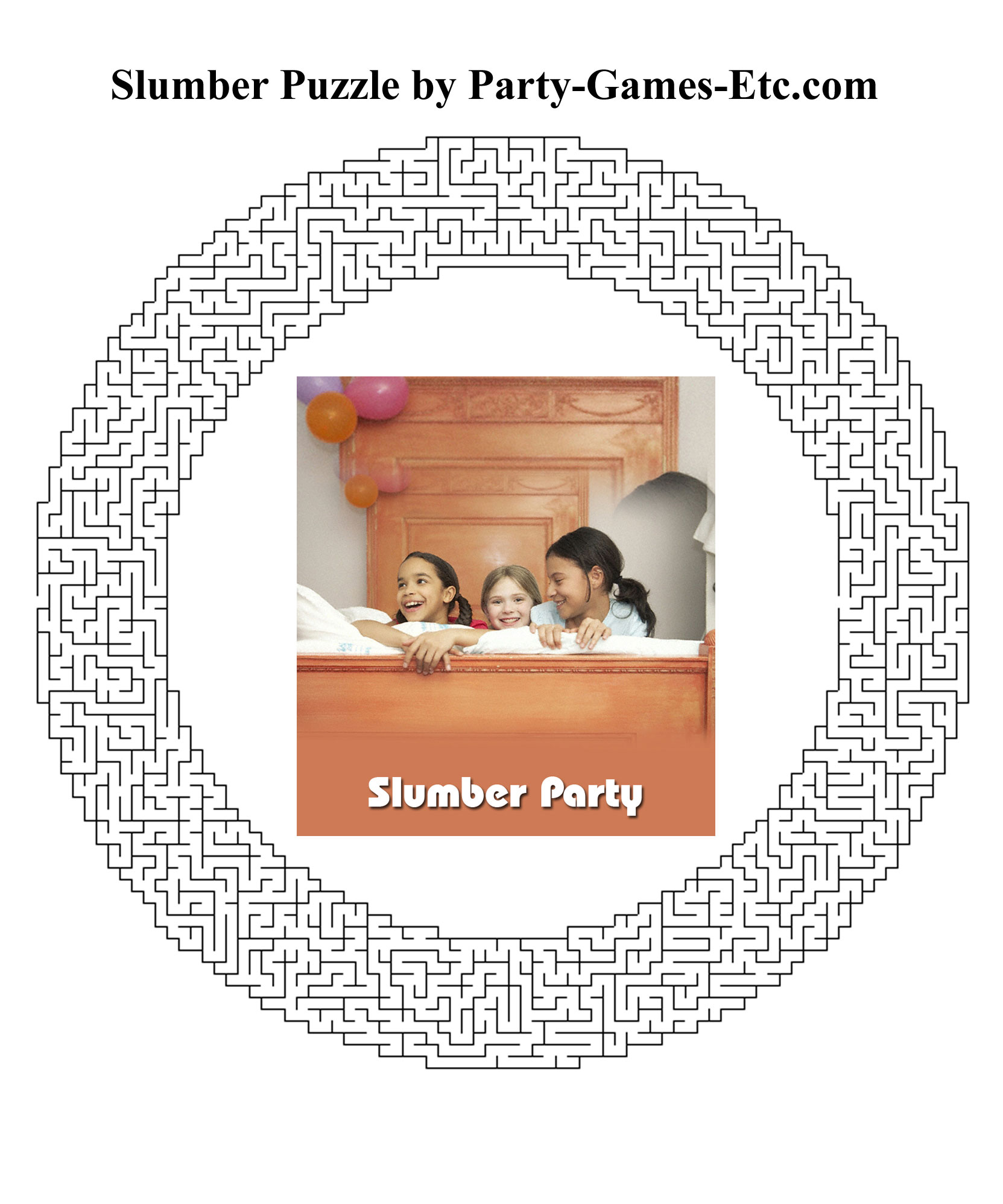Free Printable Slumber Party Game and Pen and Paper Activity