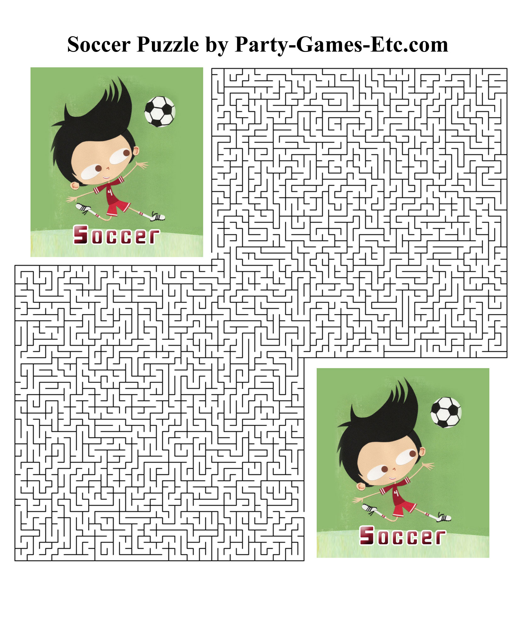 Free Printable Soccer Party Game and Pen and Paper Activity
