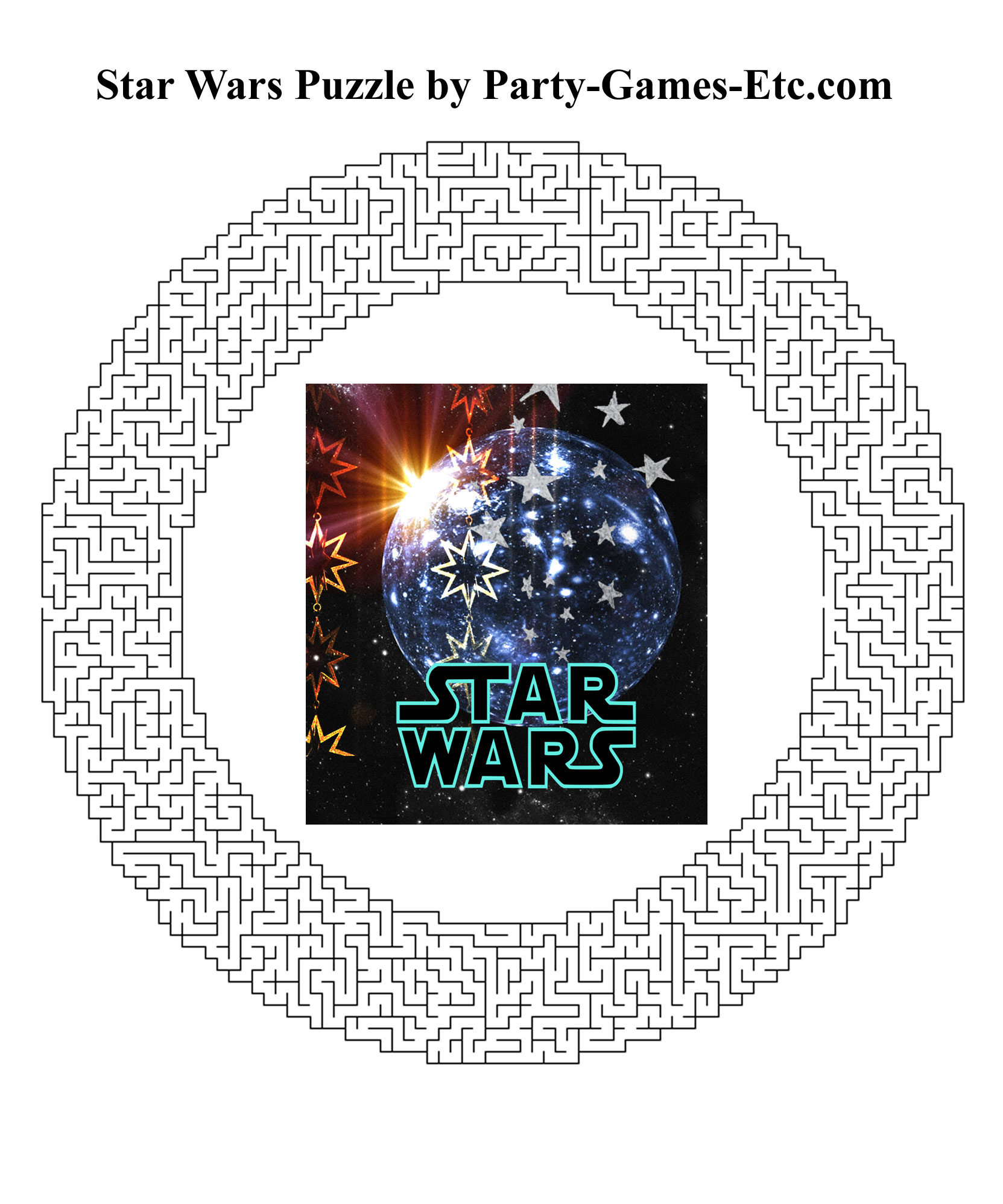 Free Printable Star Wars Party Game and Pen and Paper Activity