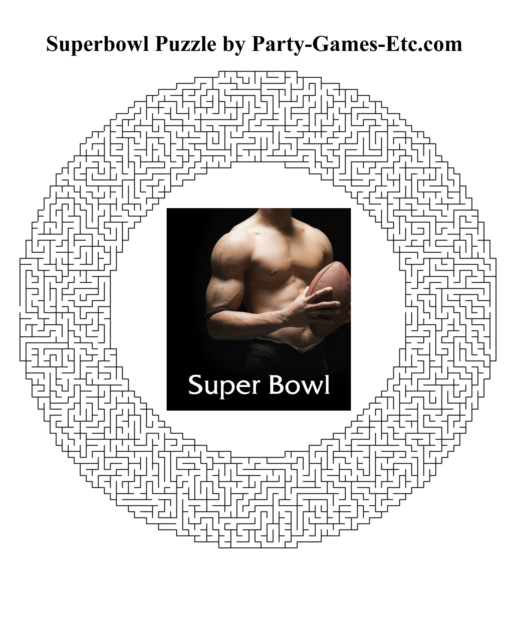 Free Printable Superbowl Party Game and Pen and Paper Activity