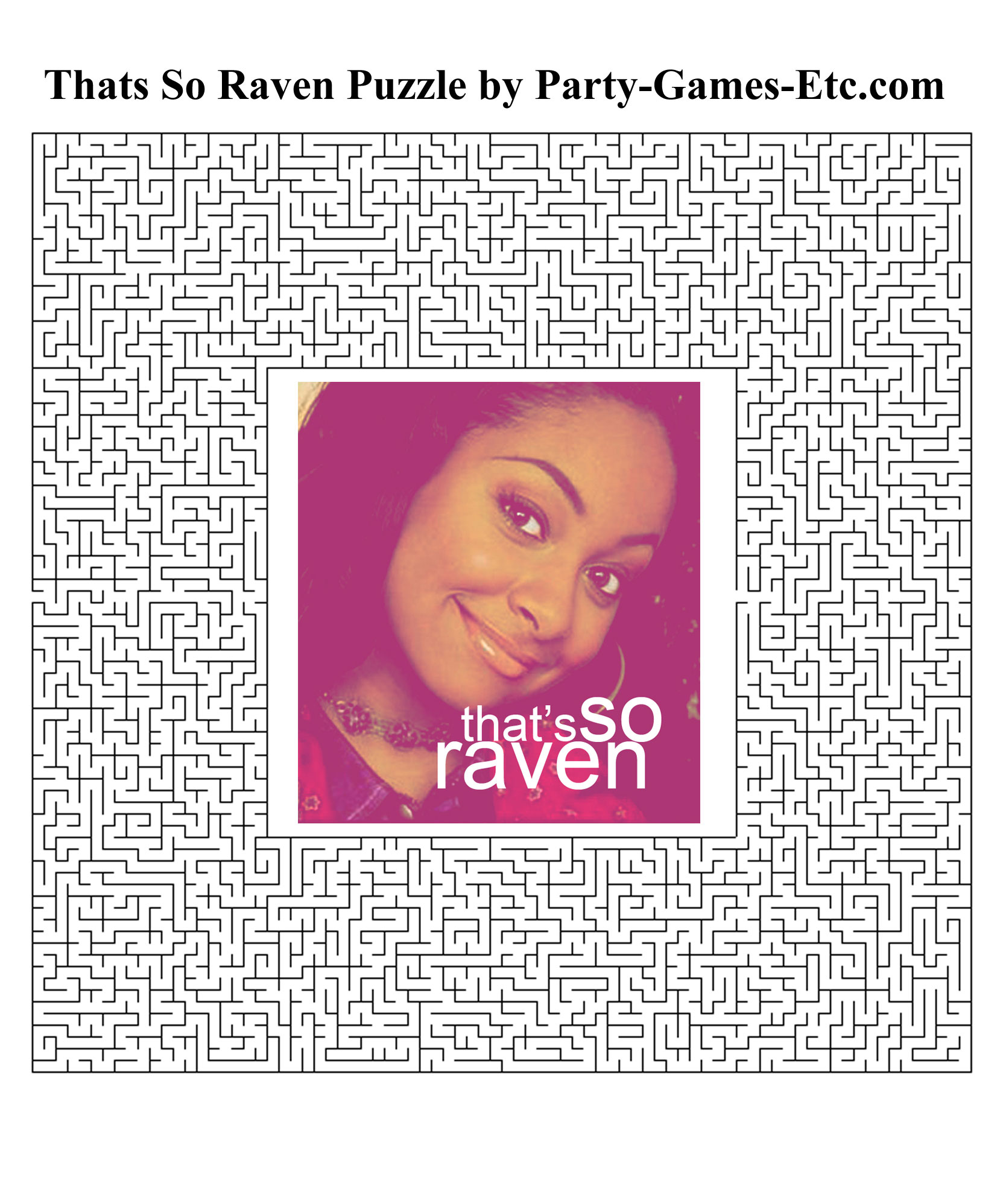 Free Printable Thats So Raven Party Game and Pen and Paper Activity
