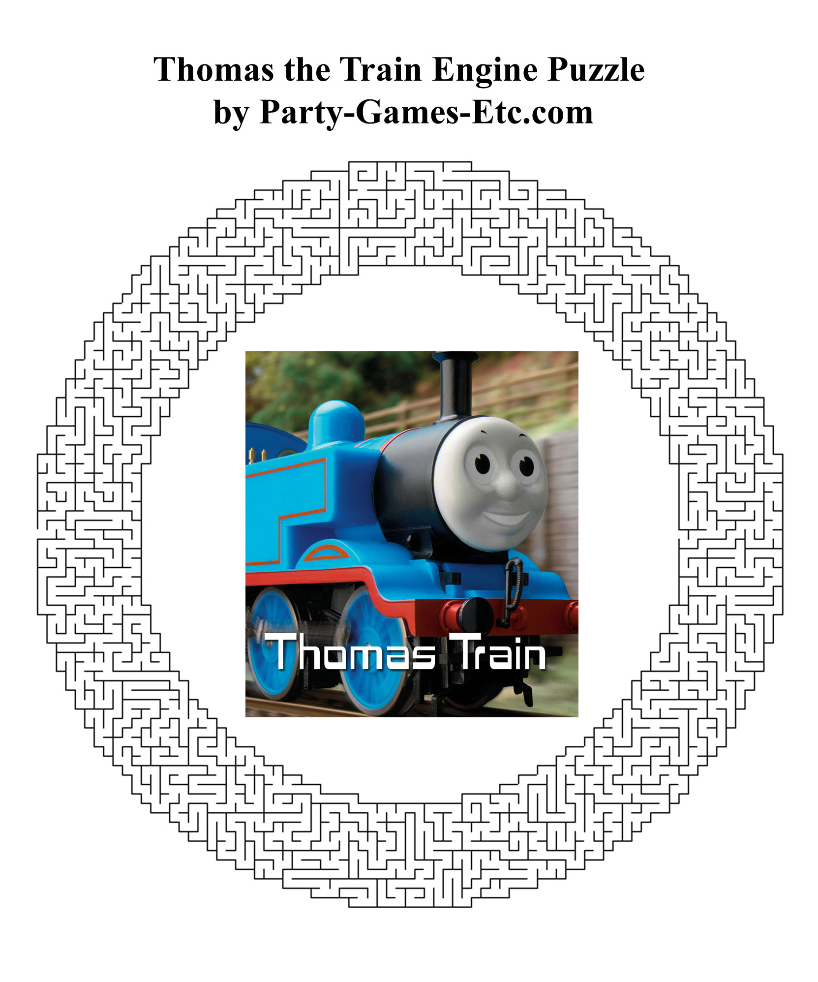 Free Printable Thomas the Tank Engine Party Game and Pen and Paper Activity