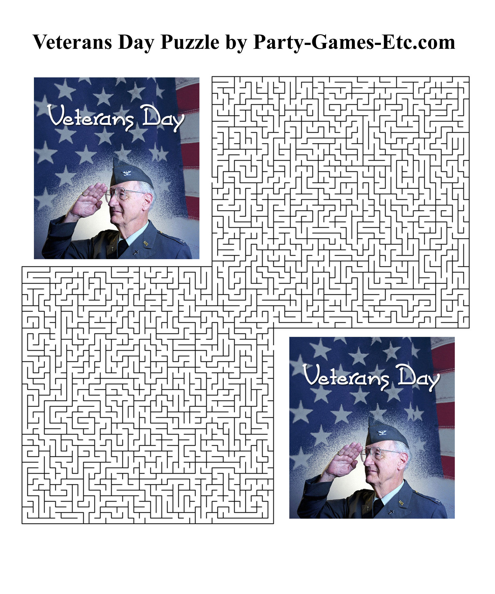Free Printable Veterans Day Party Game and Pen and Paper Activity